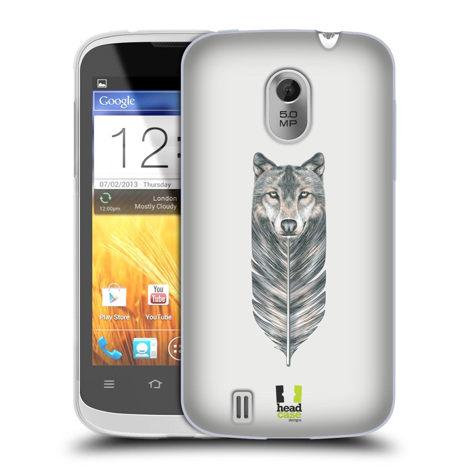Silikonové pouzdro na mobil ZTE Blade III HEAD CASE PÍRKO VLK (Silikonový kryt či obal na mobilní telefon ZTE Blade 3)