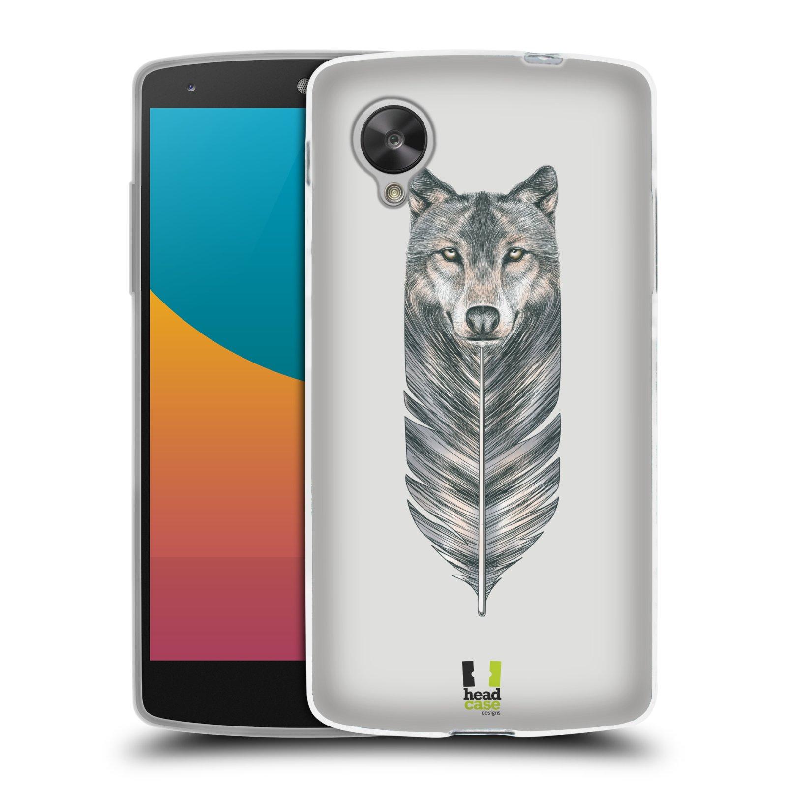 Silikonové pouzdro na mobil LG Nexus 5 HEAD CASE PÍRKO VLK (Silikonový kryt či obal na mobilní telefon LG Google Nexus 5 D821)