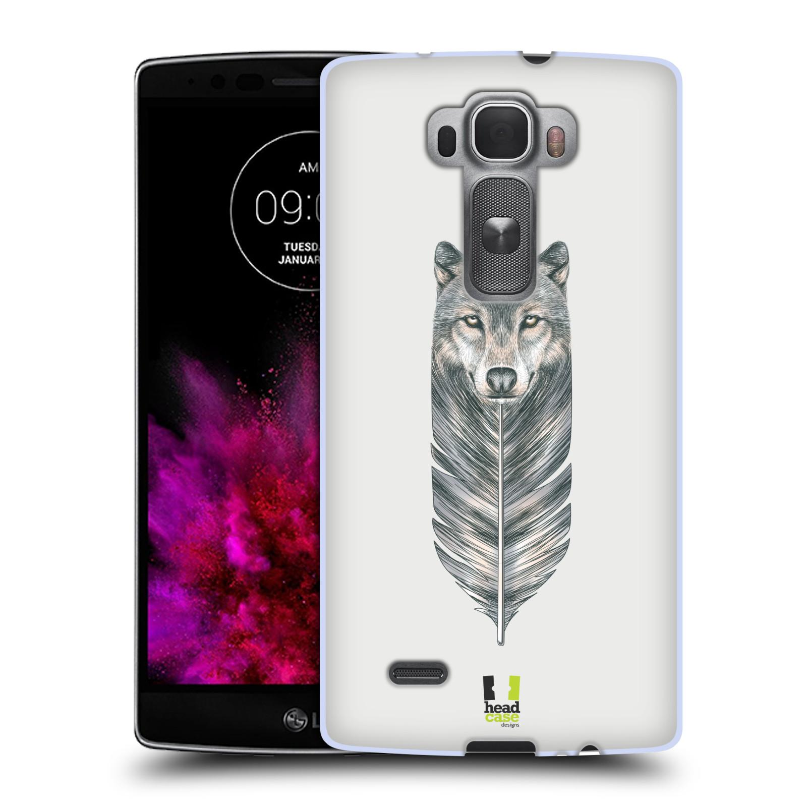 Silikonové pouzdro na mobil LG G Flex 2 HEAD CASE PÍRKO VLK (Silikonový kryt či obal na mobilní telefon LG G Flex 2 H955)