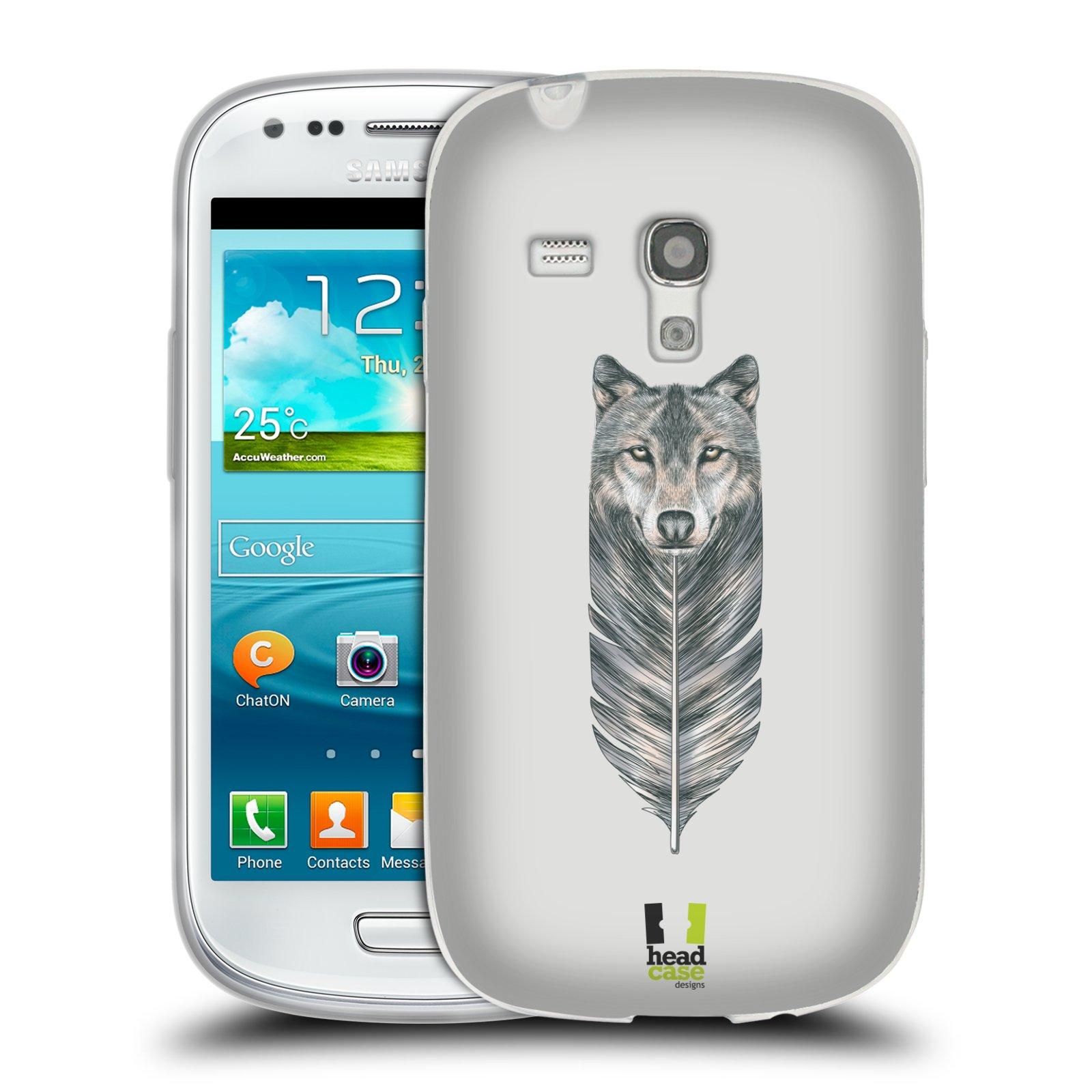 Silikonové pouzdro na mobil Samsung Galaxy S3 Mini VE HEAD CASE PÍRKO VLK (Silikonový kryt či obal na mobilní telefon Samsung Galaxy S3 Mini VE GT-i8200)