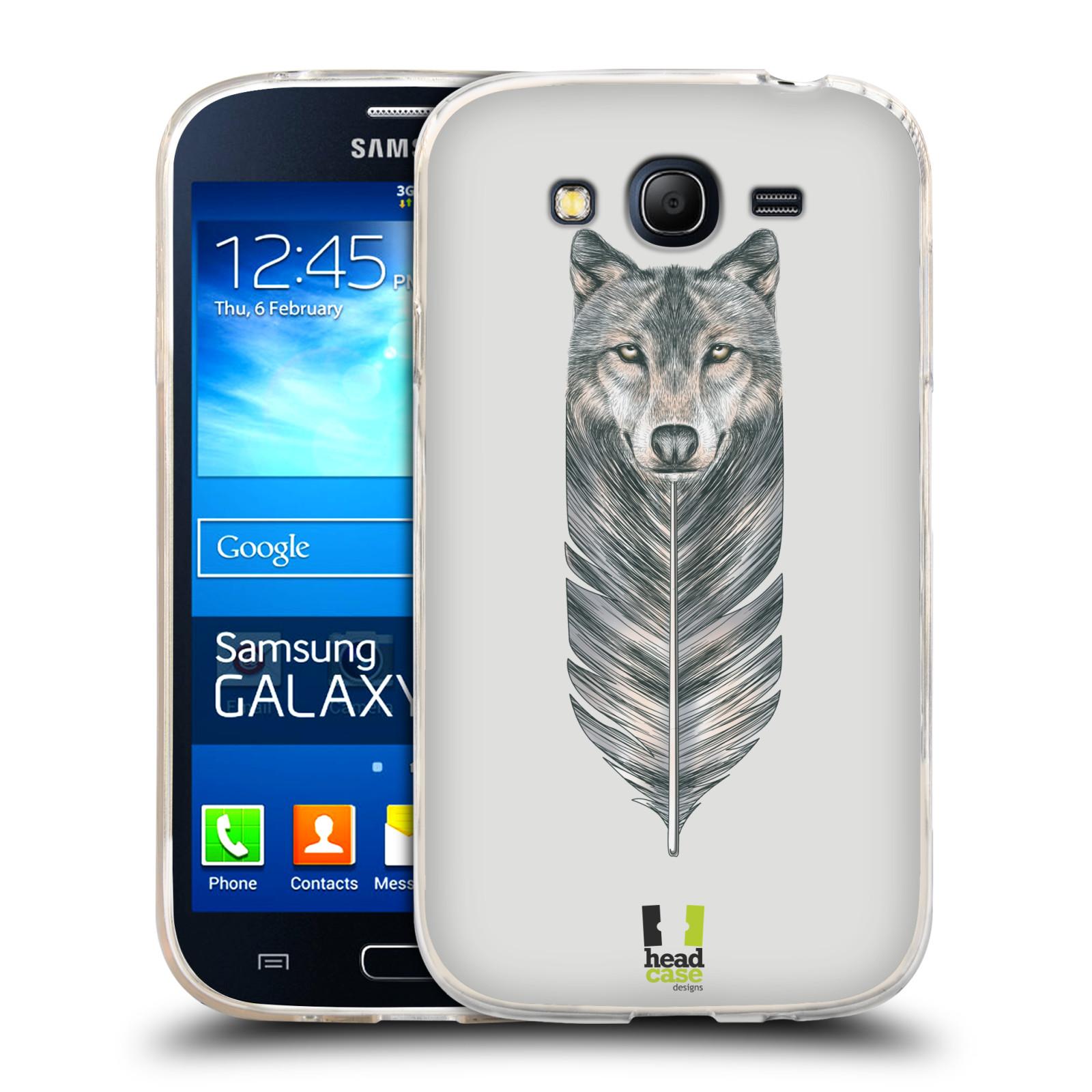 Silikonové pouzdro na mobil Samsung Galaxy Grand Neo HEAD CASE PÍRKO VLK (Silikonový kryt či obal na mobilní telefon Samsung Galaxy Grand Neo GT-I9060)