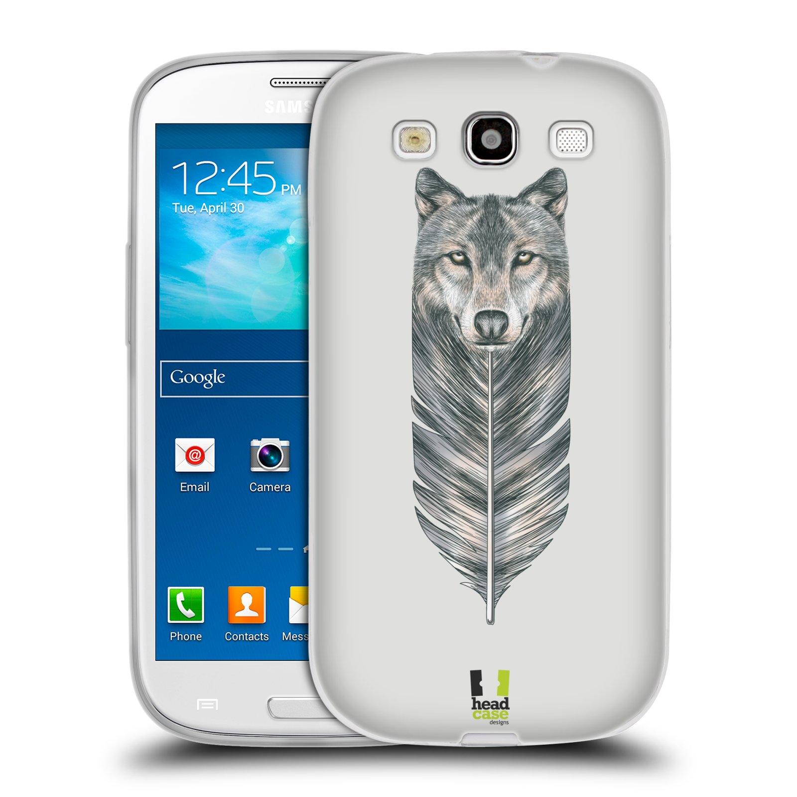 Silikonové pouzdro na mobil Samsung Galaxy S III HEAD CASE PÍRKO VLK (Silikonový kryt či obal na mobilní telefon Samsung Galaxy S III GT-i9300)