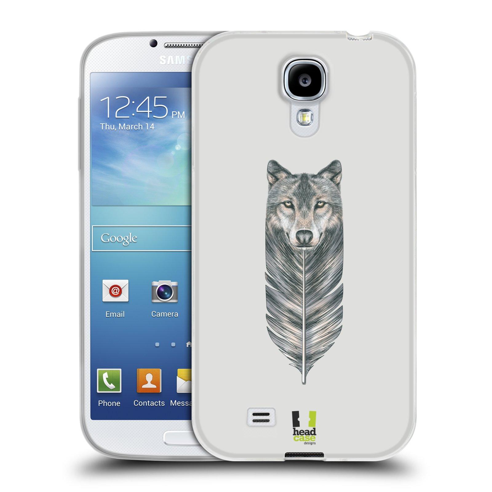 Silikonové pouzdro na mobil Samsung Galaxy S4 HEAD CASE PÍRKO VLK (Silikonový kryt či obal na mobilní telefon Samsung Galaxy S4 GT-i9505 / i9500)