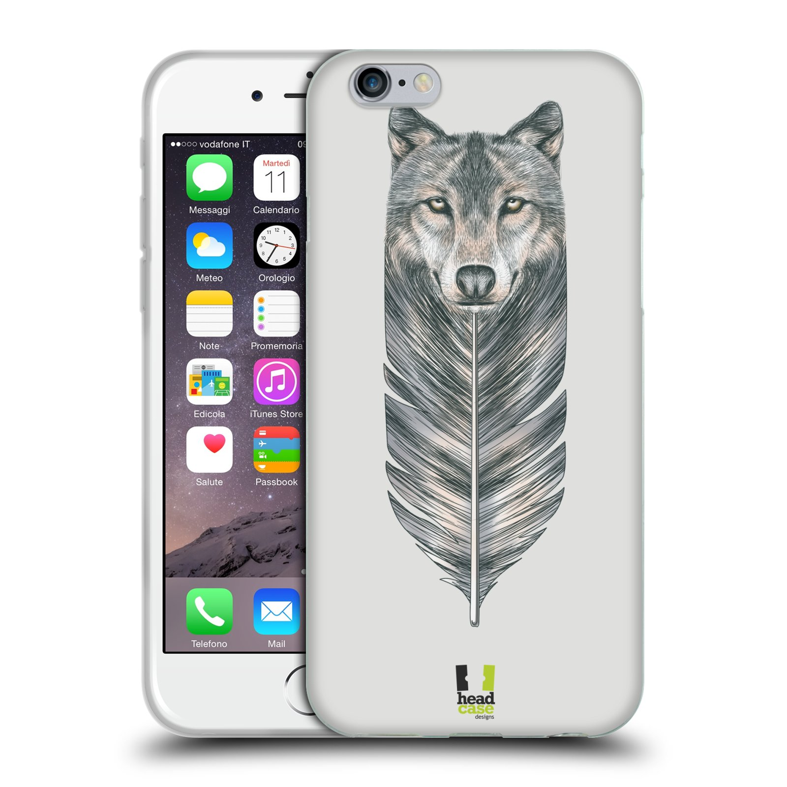 Silikonové pouzdro na mobil Apple iPhone 6 a 6S HEAD CASE PÍRKO VLK ( Silikonový kryt 7db67517fec