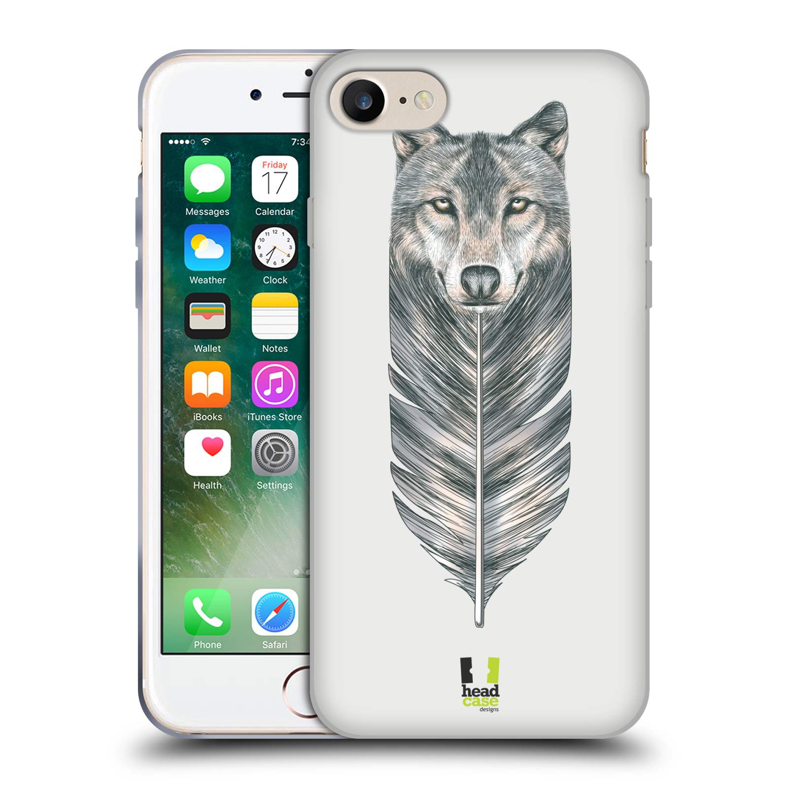 Silikonové pouzdro na mobil Apple iPhone 8 - Head Case - PÍRKO VLK (Silikonový kryt či obal na mobilní telefon Apple iPhone 8 s motivem PÍRKO VLK)