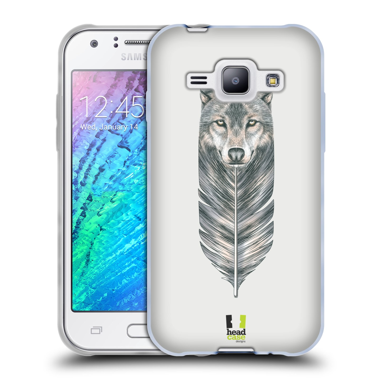 Silikonové pouzdro na mobil Samsung Galaxy J1 HEAD CASE PÍRKO VLK (Silikonový kryt či obal na mobilní telefon Samsung Galaxy J1 a J1 Duos)