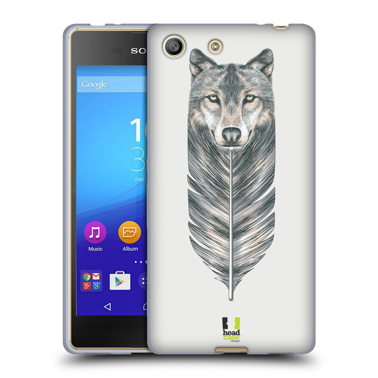Silikonové pouzdro na mobil Sony Xperia M5 HEAD CASE PÍRKO VLK (Silikonový kryt či obal na mobilní telefon Sony Xperia M5 Dual SIM / Aqua)