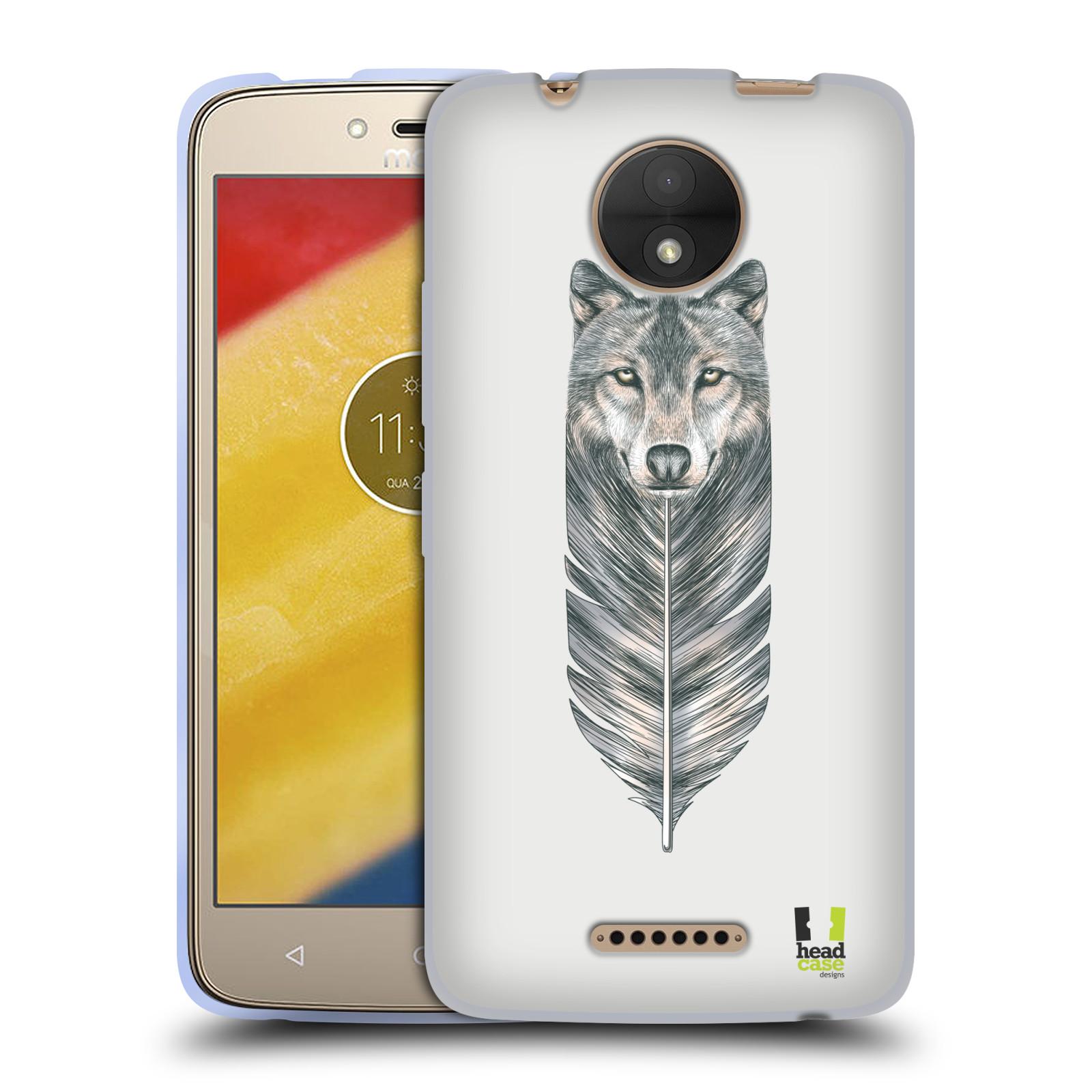 Silikonové pouzdro na mobil Lenovo Moto C - Head Case - PÍRKO VLK (Silikonový kryt či obal na mobilní telefon Lenovo Moto C s motivem PÍRKO VLK)