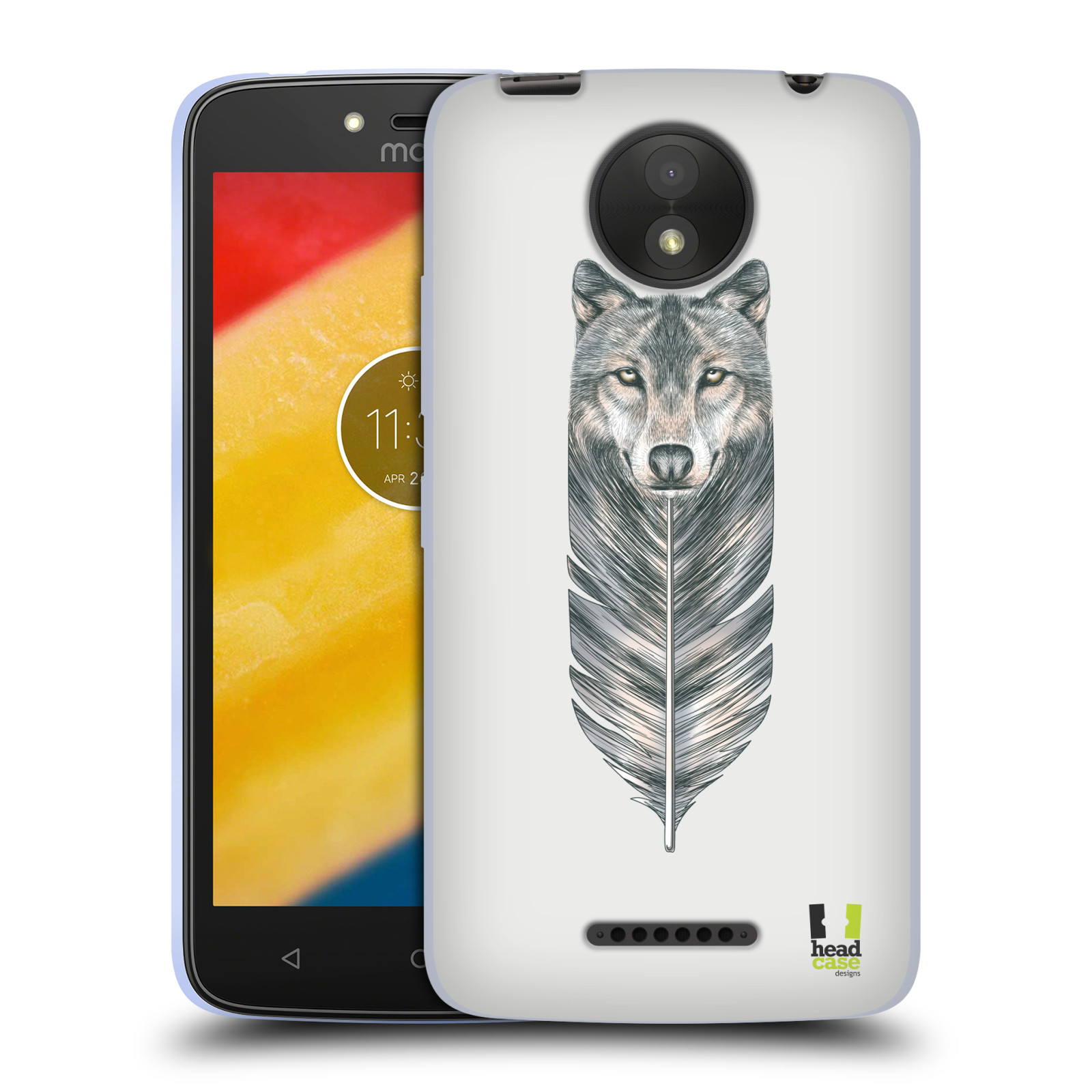 Silikonové pouzdro na mobil Lenovo Moto C Plus - Head Case - PÍRKO VLK (Silikonový kryt či obal na mobilní telefon Lenovo Moto C Plus s motivem PÍRKO VLK)
