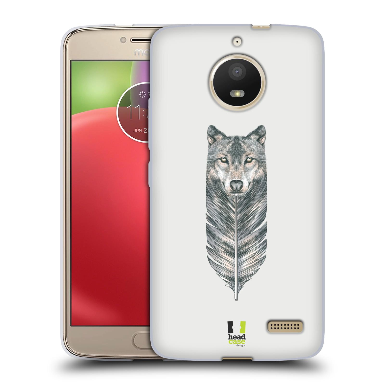 Silikonové pouzdro na mobil Lenovo Moto E4 - Head Case - PÍRKO VLK (Silikonový kryt či obal na mobilní telefon Lenovo Moto E4 s motivem PÍRKO VLK)