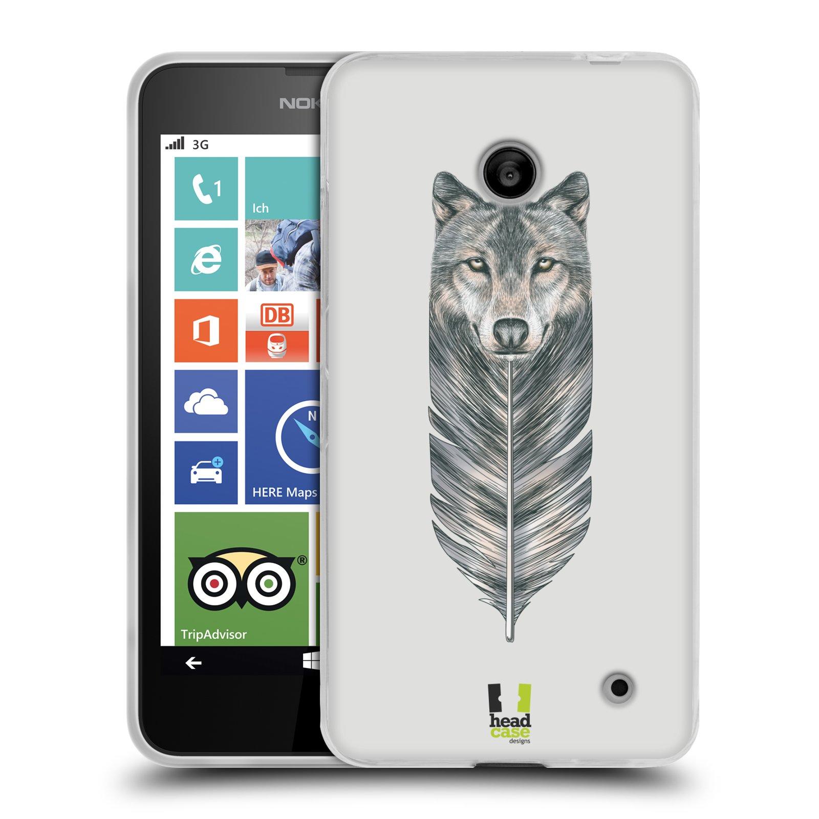 Silikonové pouzdro na mobil Nokia Lumia 630 HEAD CASE PÍRKO VLK (Silikonový kryt či obal na mobilní telefon Nokia Lumia 630 a Nokia Lumia 630 Dual SIM)