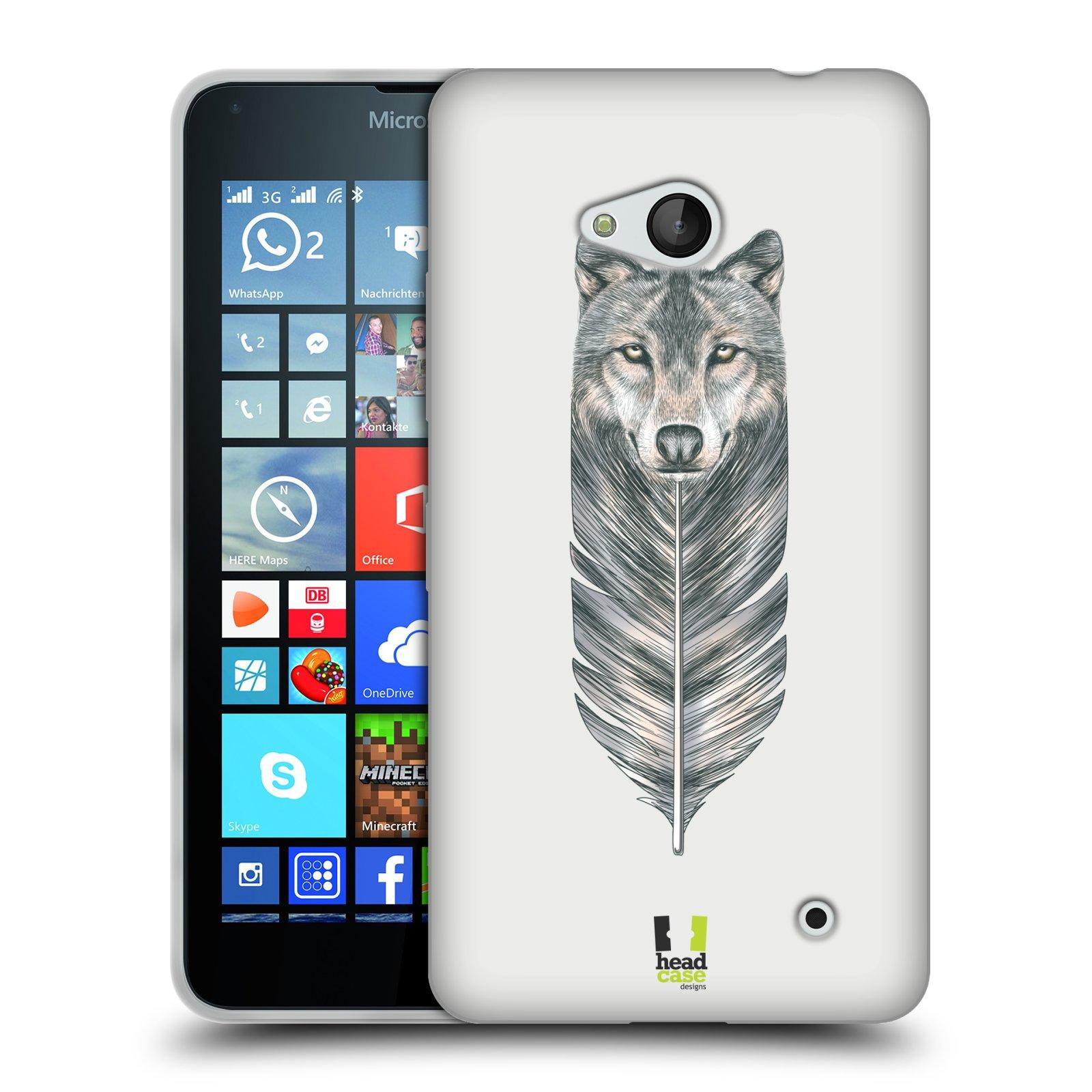 Silikonové pouzdro na mobil Microsoft Lumia 640 HEAD CASE PÍRKO VLK