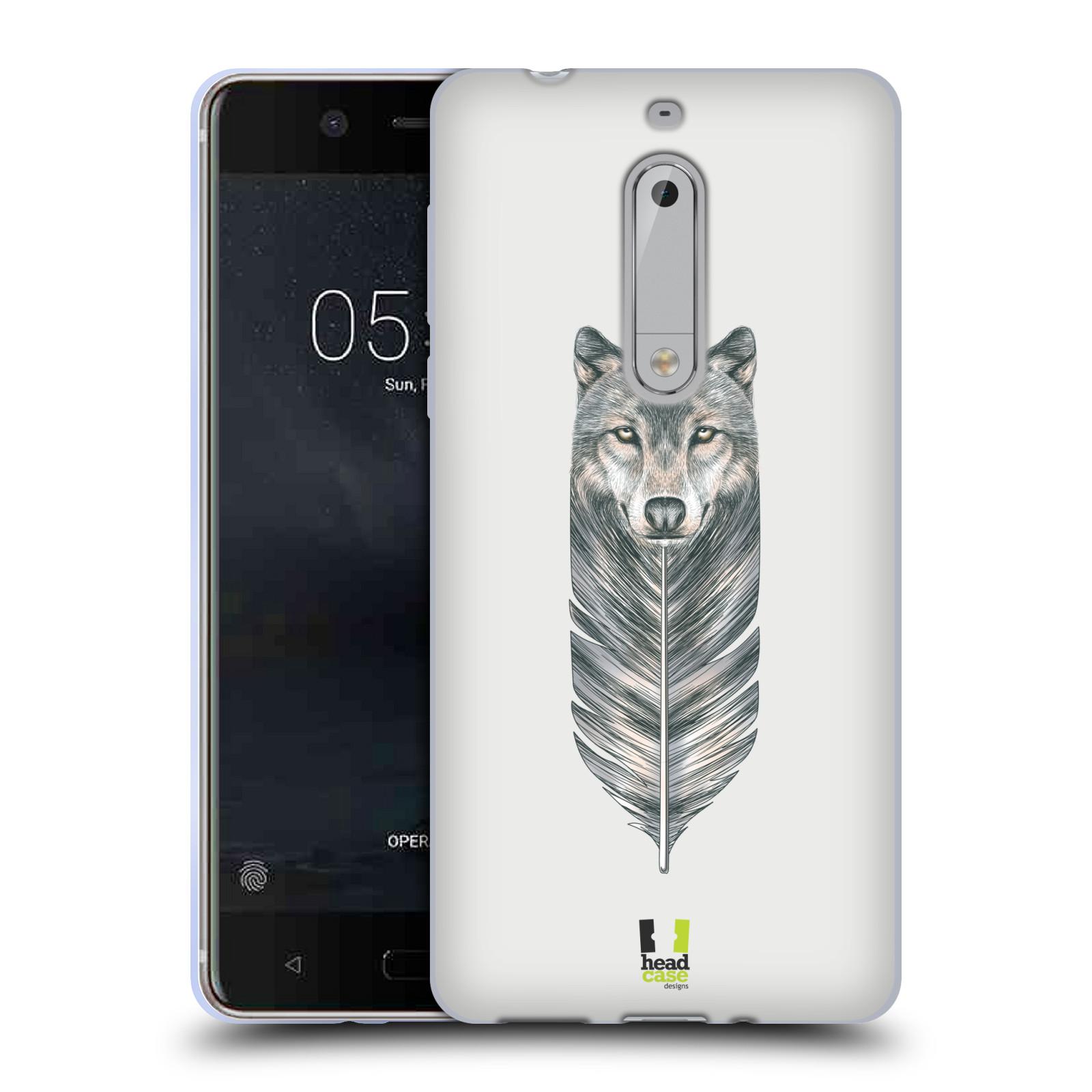 Silikonové pouzdro na mobil Nokia 5 Head Case - PÍRKO VLK