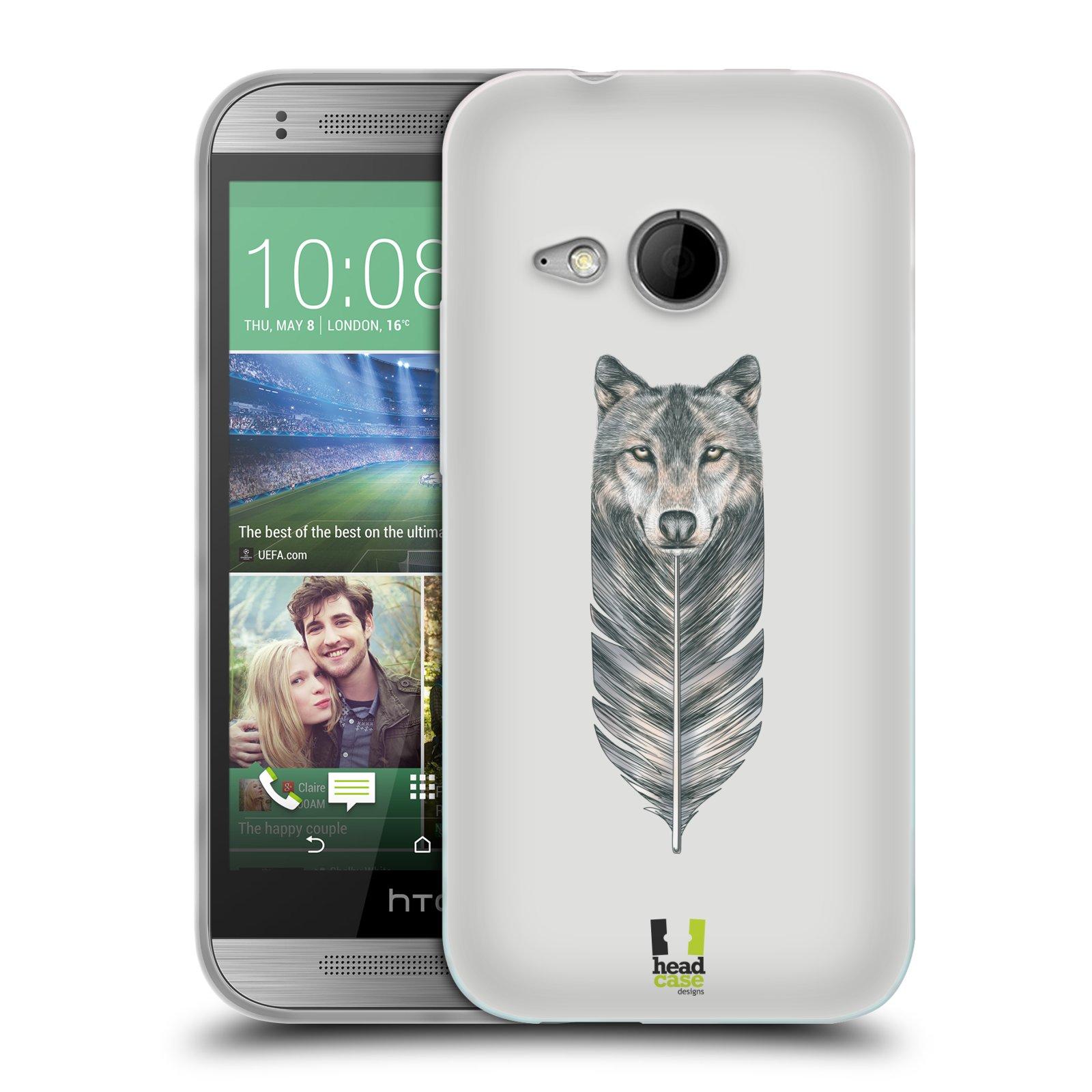 Silikonové pouzdro na mobil HTC ONE Mini 2 HEAD CASE PÍRKO VLK (Silikonový kryt či obal na mobilní telefon HTC ONE Mini 2)