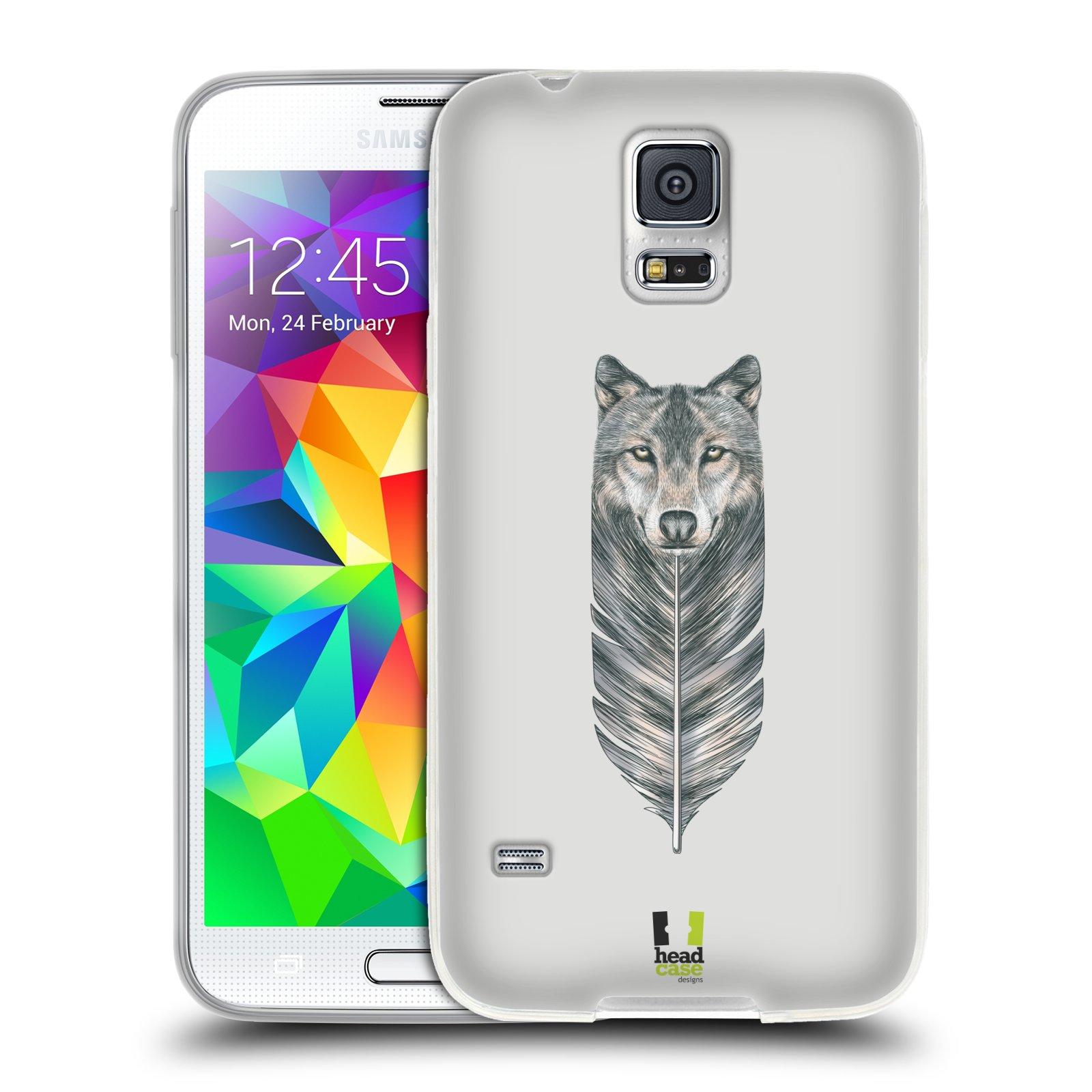 Silikonové pouzdro na mobil Samsung Galaxy S5 HEAD CASE PÍRKO VLK (Silikonový kryt či obal na mobilní telefon Samsung Galaxy S5 SM-G900F)