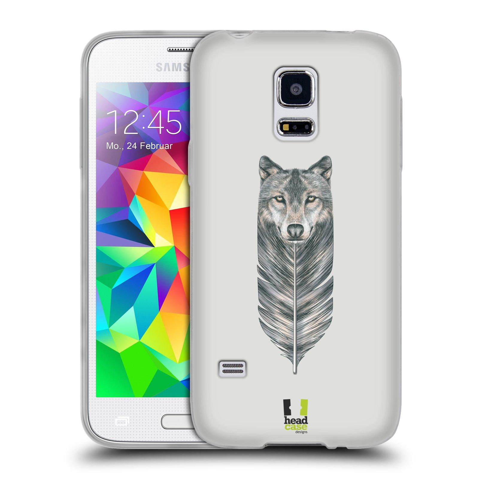 Silikonové pouzdro na mobil Samsung Galaxy S5 Mini HEAD CASE PÍRKO VLK (Silikonový kryt či obal na mobilní telefon Samsung Galaxy S5 Mini SM-G800F)