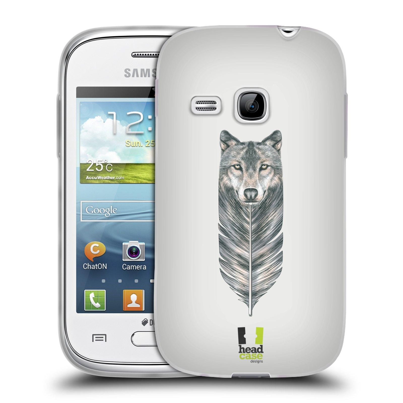 Silikonové pouzdro na mobil Samsung Galaxy Young HEAD CASE PÍRKO VLK (Silikonový kryt či obal na mobilní telefon Samsung Galaxy Young GT-S6310)