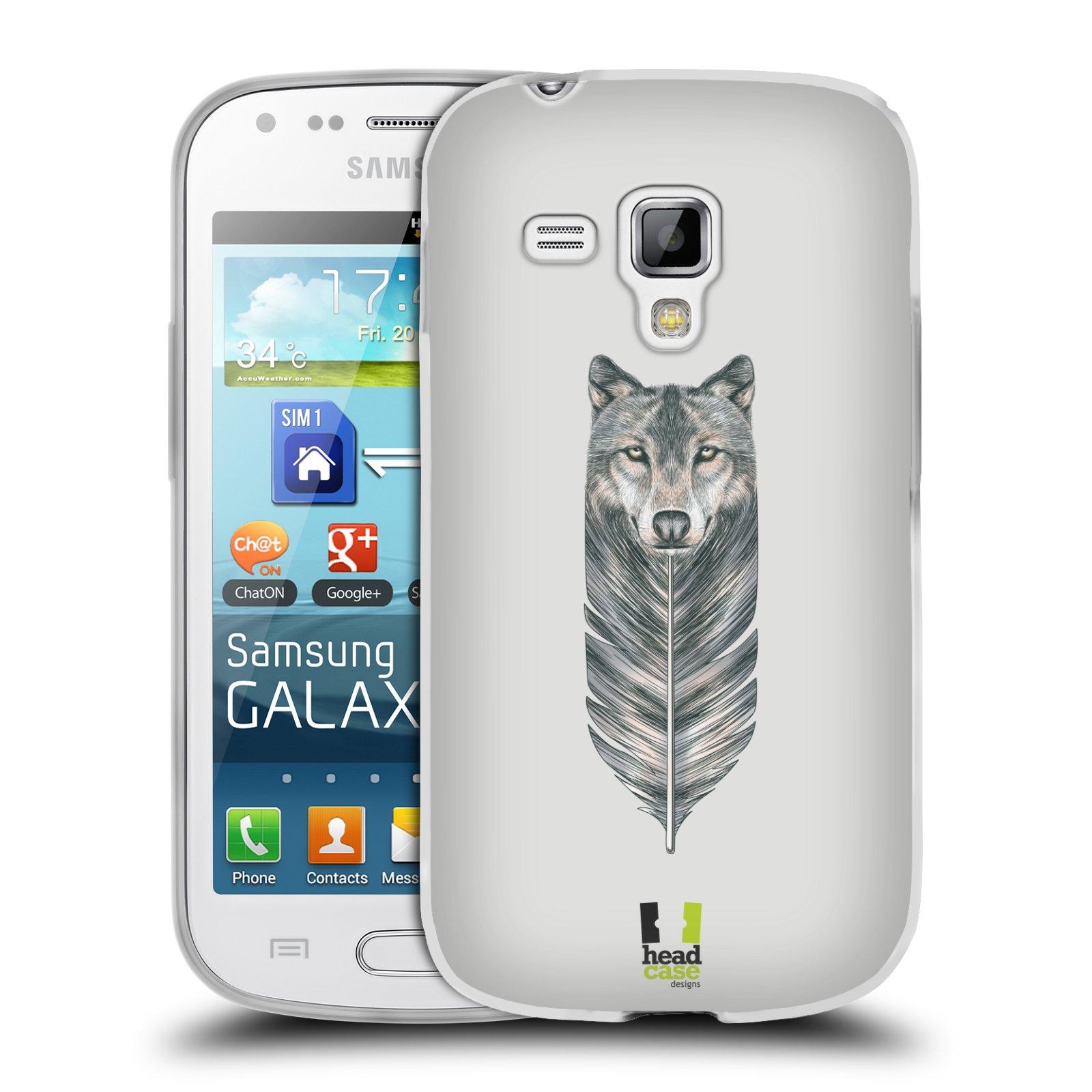 Silikonové pouzdro na mobil Samsung Galaxy Trend HEAD CASE PÍRKO VLK (Silikonový kryt či obal na mobilní telefon Samsung Galaxy Trend GT-S7560)