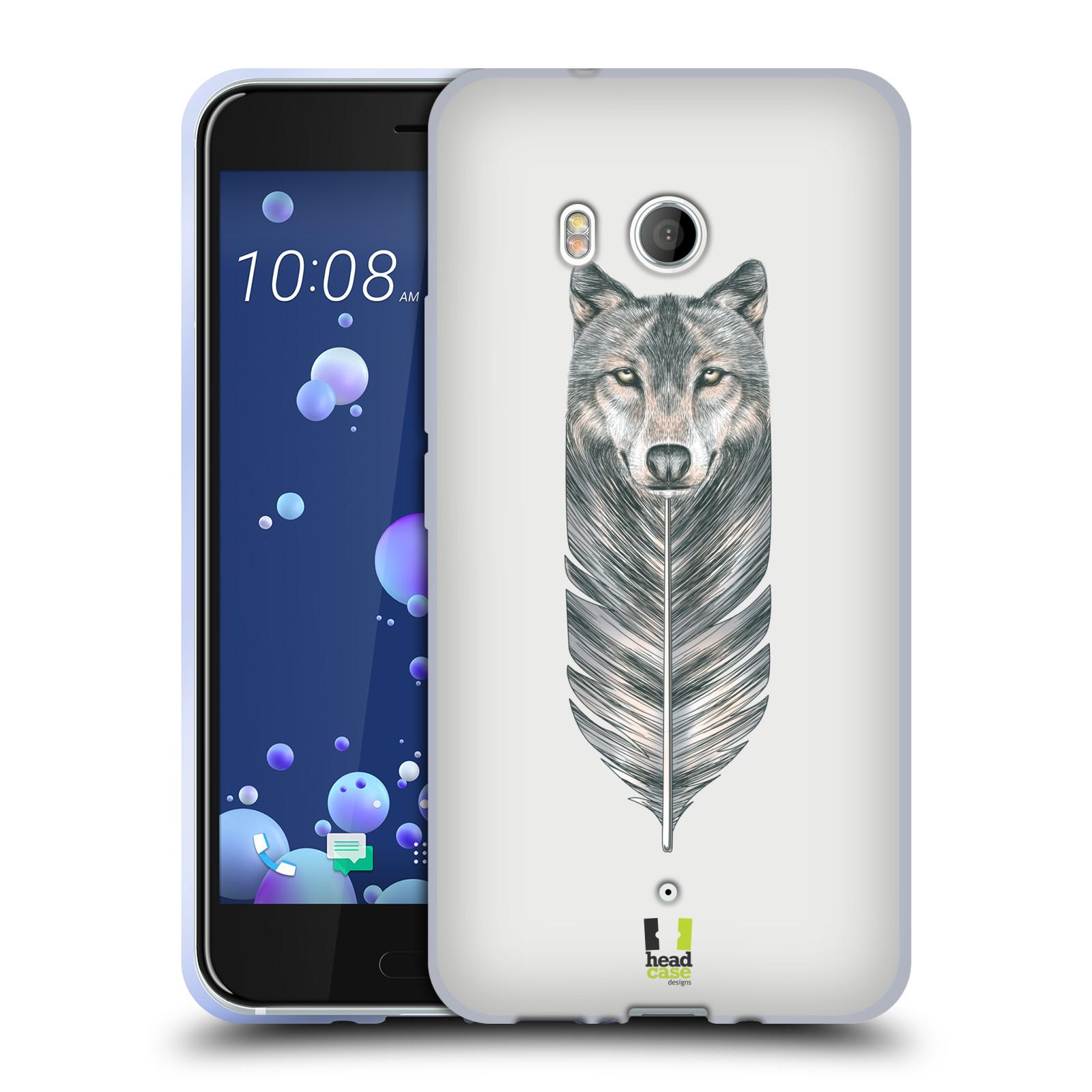 Silikonové pouzdro na mobil HTC U11 - Head Case - PÍRKO VLK (Silikonový kryt či obal na mobilní telefon HTC U11 s motivem PÍRKO VLK)