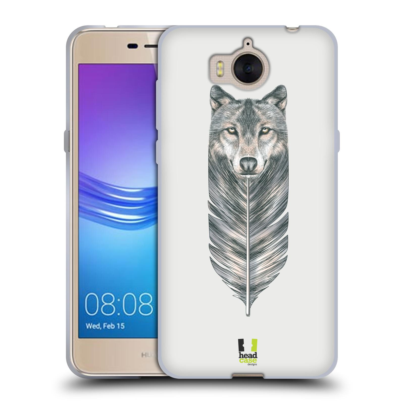 Silikonové pouzdro na mobil Huawei Y6 2017 - Head Case - PÍRKO VLK (Silikonový kryt či obal na mobilní telefon Huawei Y6 (2017) s motivem PÍRKO VLK)