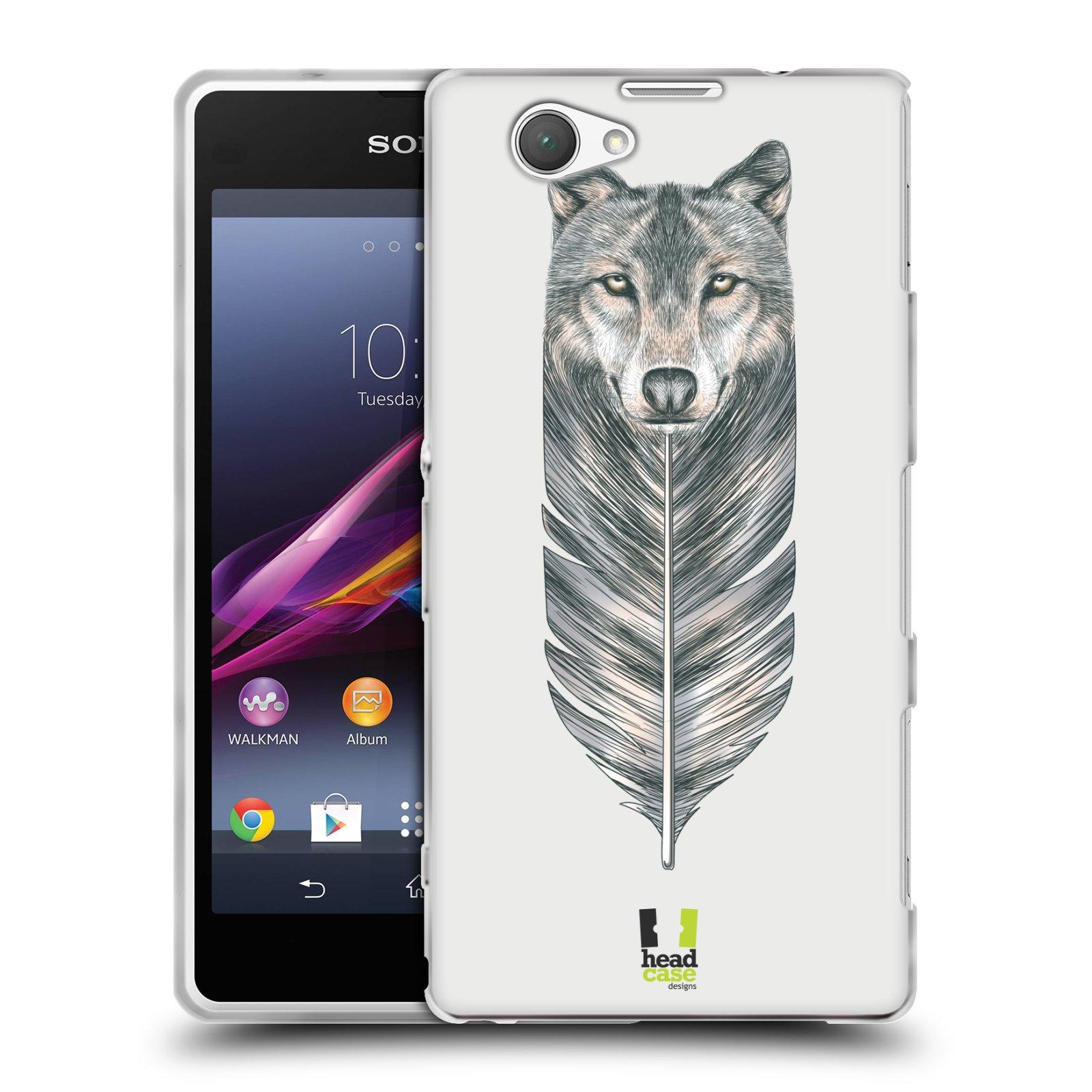 Silikonové pouzdro na mobil Sony Xperia Z1 Compact D5503 HEAD CASE PÍRKO VLK (Silikonový kryt či obal na mobilní telefon Sony Xperia Z1 Compact)