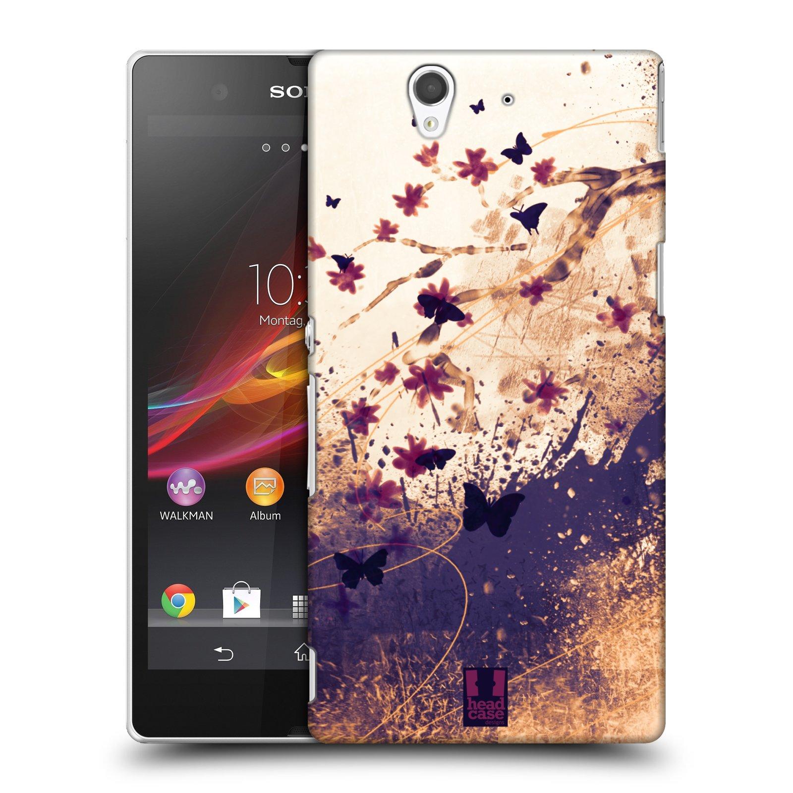 Plastové pouzdro na mobil Sony Xperia Z C6603 HEAD CASE MOTÝLCI (Kryt či obal na mobilní telefon Sony Xperia Z )