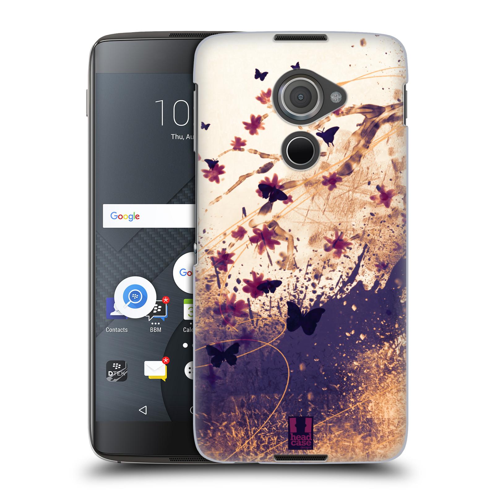 Plastové pouzdro na mobil Blackberry DTEK60 (Argon) - Head Case MOTÝLCI (Plastový kryt či obal na mobilní telefon Blackberry DTEK60 (Argon))