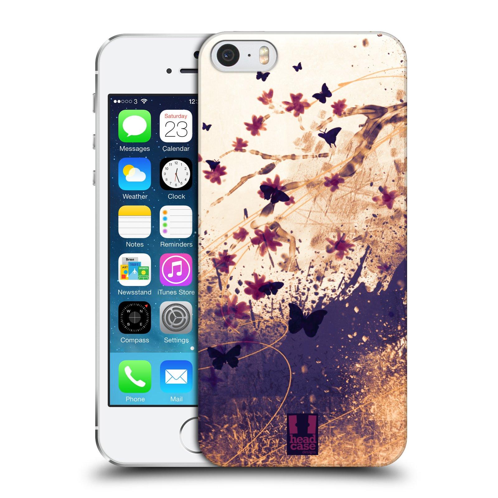 Plastové pouzdro na mobil Apple iPhone SE, 5 a 5S HEAD CASE MOTÝLCI