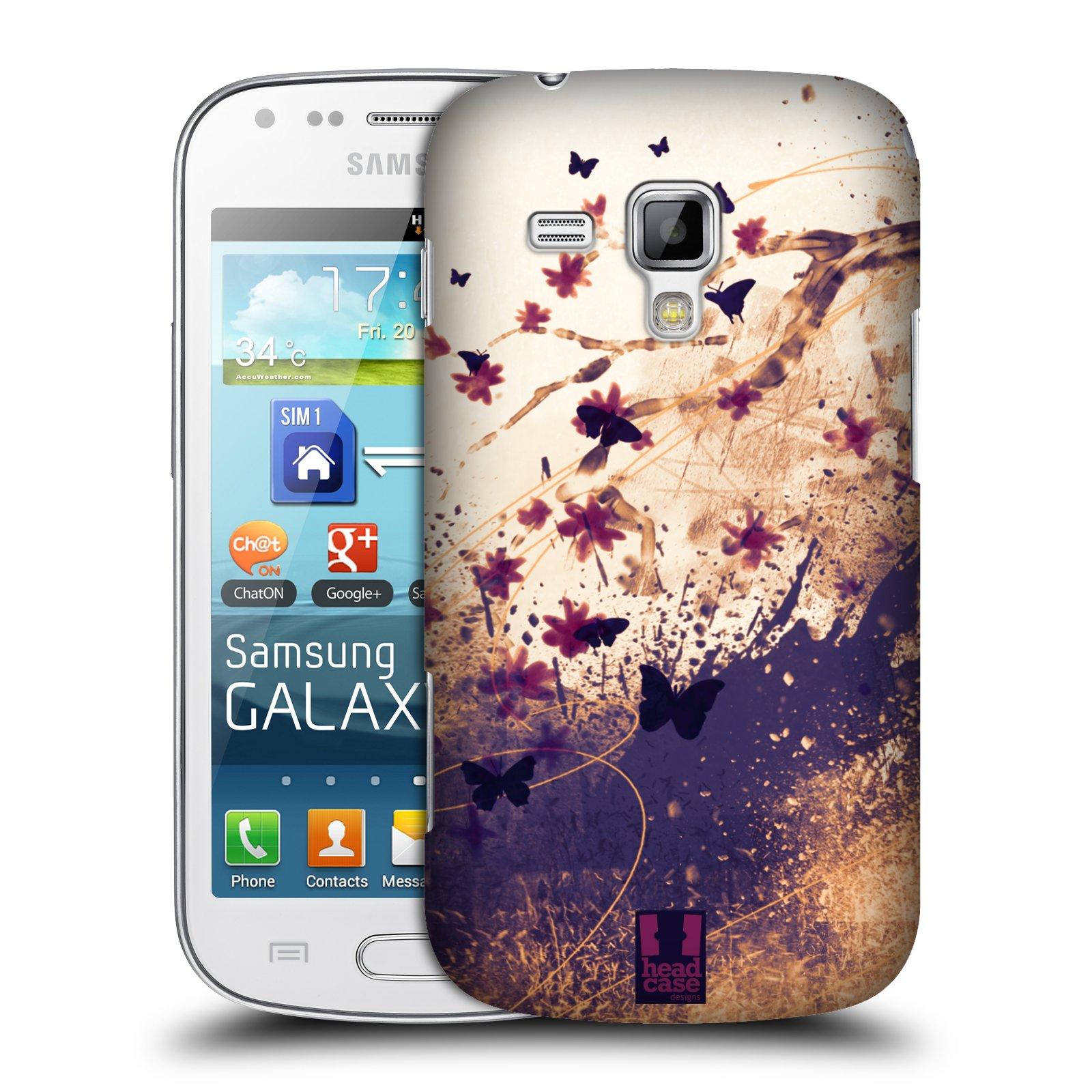 Plastové pouzdro na mobil Samsung Galaxy Trend Plus HEAD CASE MOTÝLCI