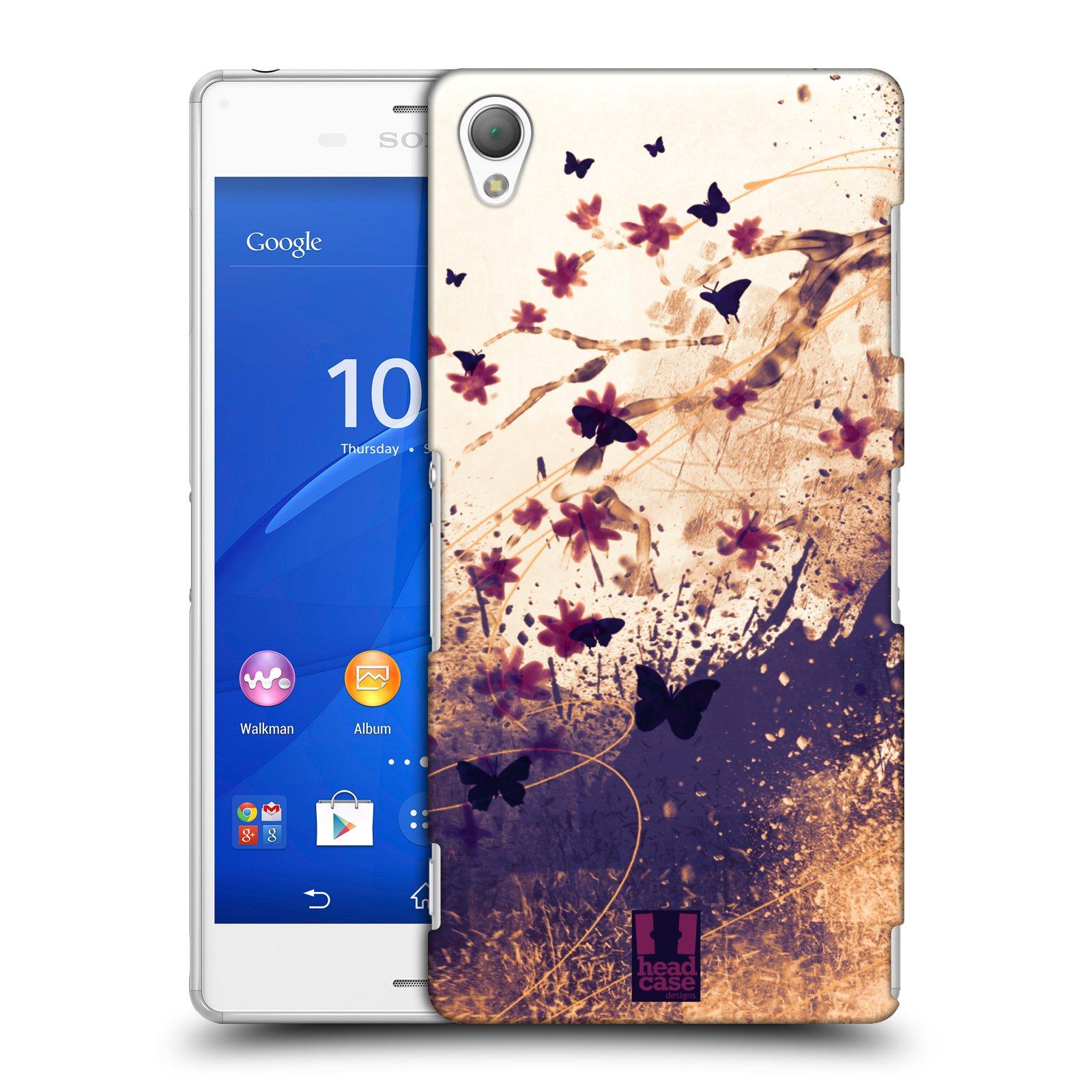 Plastové pouzdro na mobil Sony Xperia Z3 D6603 HEAD CASE MOTÝLCI (Kryt či obal na mobilní telefon Sony Xperia Z3 )
