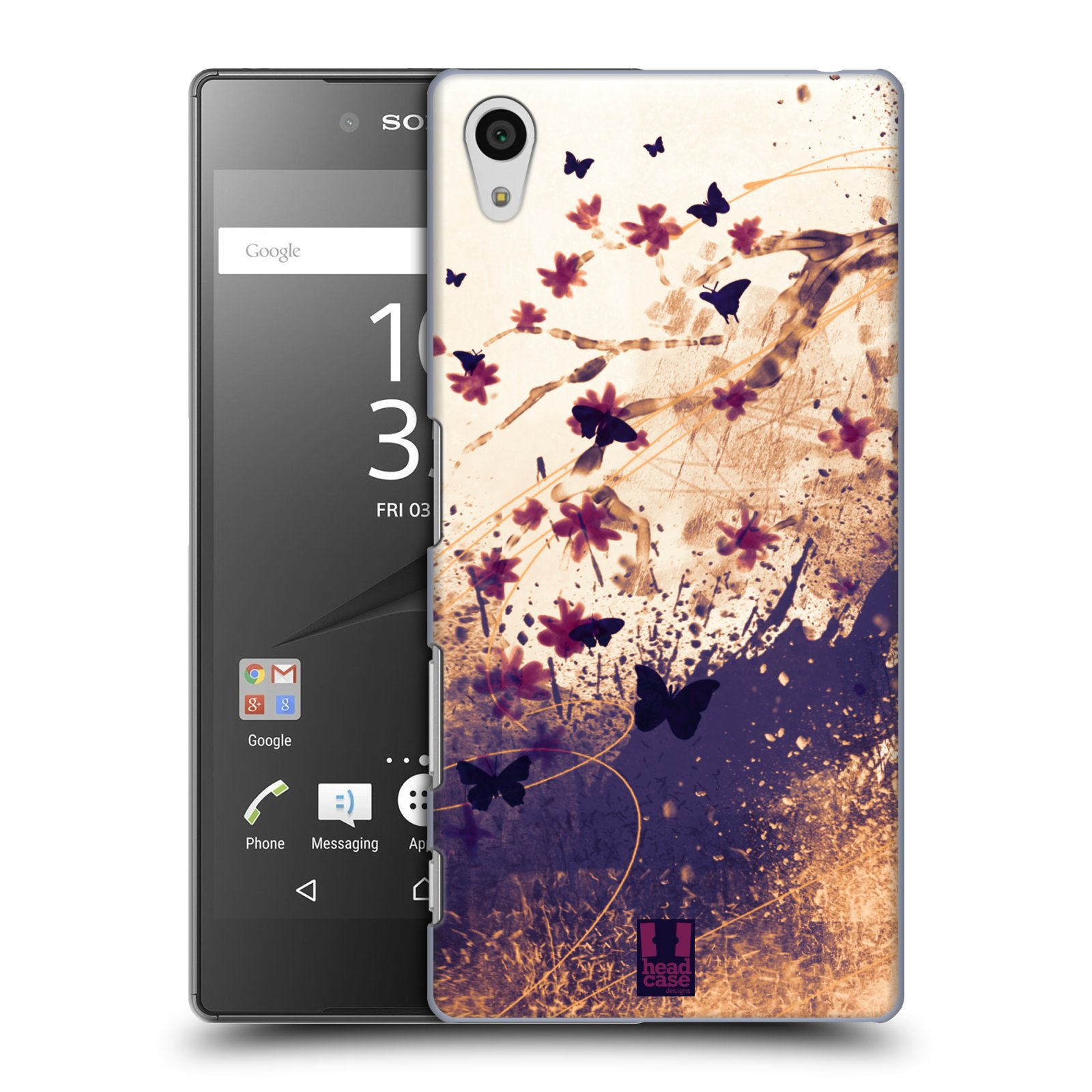 Plastové pouzdro na mobil Sony Xperia Z5 HEAD CASE MOTÝLCI (Kryt či obal na mobilní telefon Sony Xperia Z5 E6653)