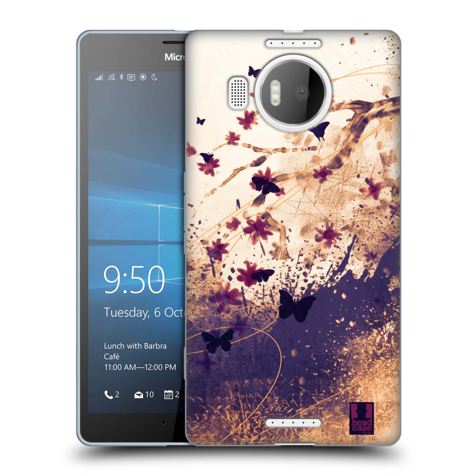 Silikonové pouzdro na mobil Microsoft Lumia 950 XL HEAD CASE MOTÝLCI