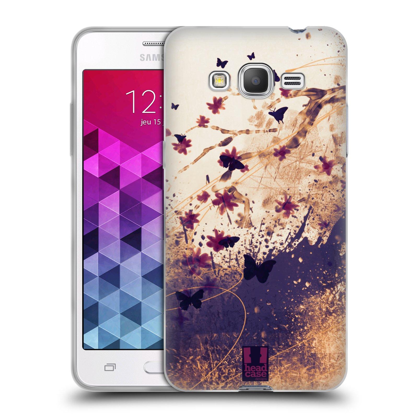 Silikonové pouzdro na mobil Samsung Galaxy Grand Prime VE HEAD CASE MOTÝLCI  (Silikonový kryt či c0de0218343