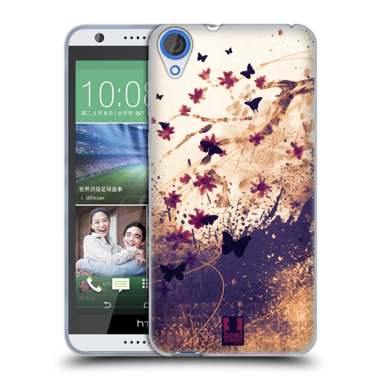Silikonové pouzdro na mobil HTC Desire 820 HEAD CASE MOTÝLCI (Silikonový kryt či obal na mobilní telefon HTC Desire 820)