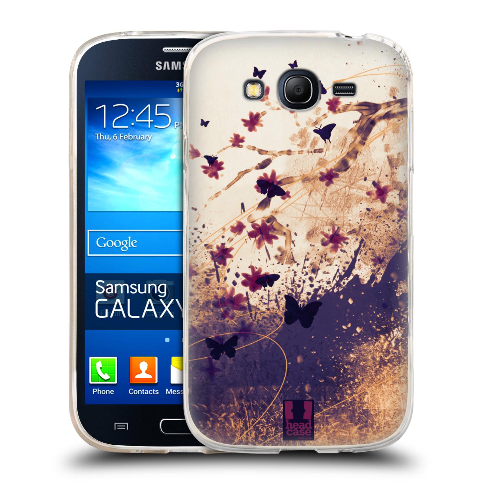 Silikonové pouzdro na mobil Samsung Galaxy Grand Neo Plus HEAD CASE MOTÝLCI (Silikonový kryt či obal na mobilní telefon Samsung Galaxy Grand Neo Plus Duos GT-I9060i)