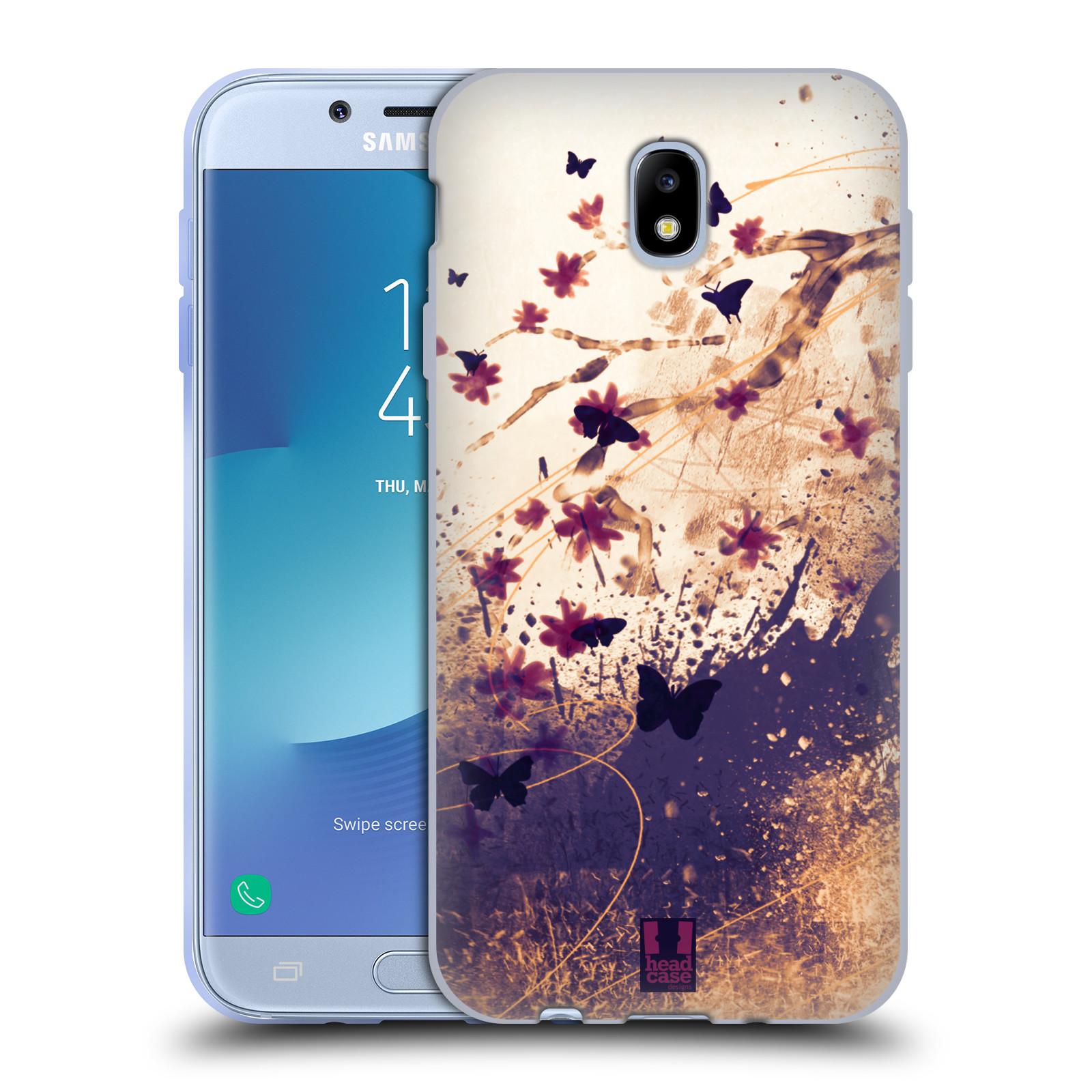Silikonové pouzdro na mobil Samsung Galaxy J7 (2017) - Head Case - MOTÝLCI