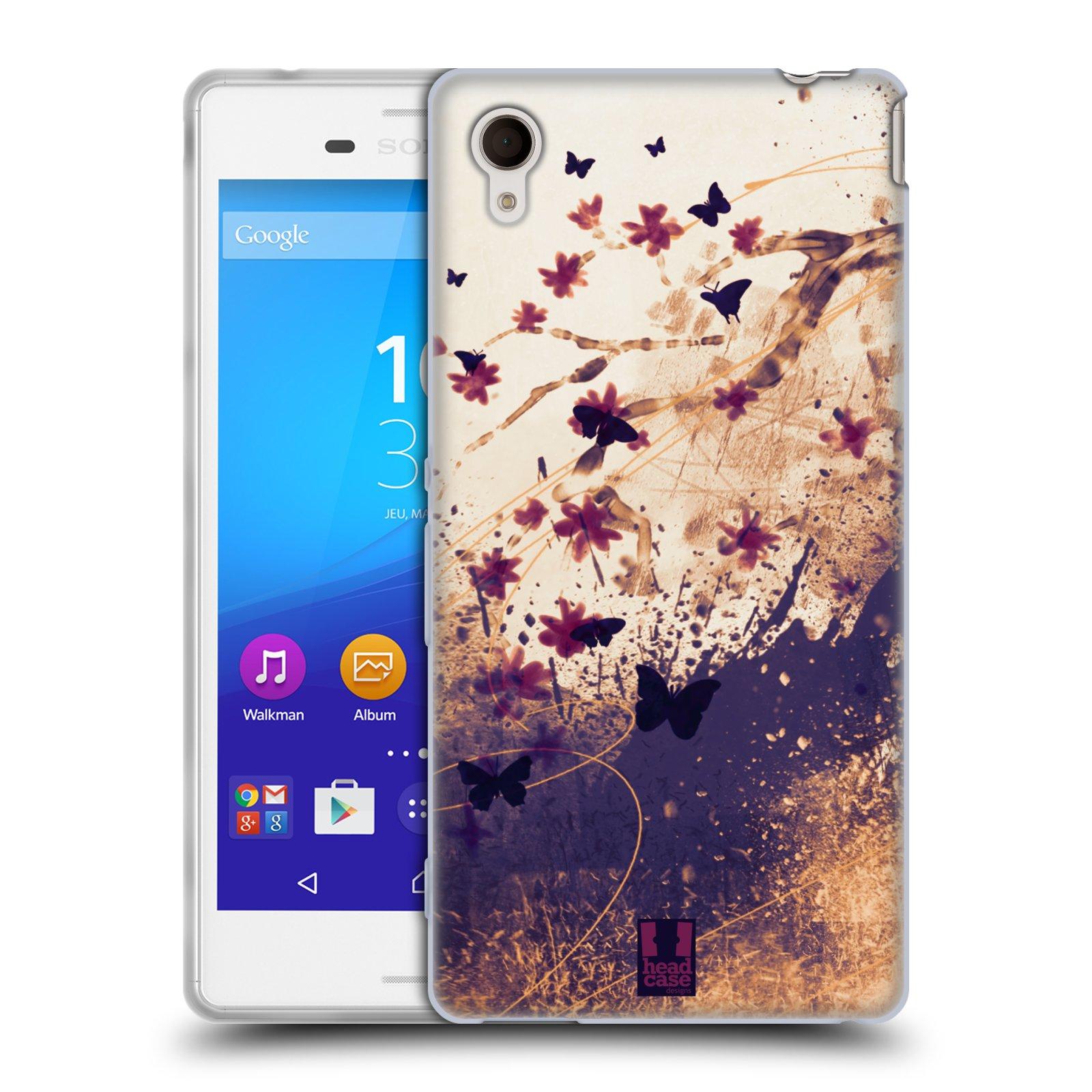 Silikonové pouzdro na mobil Sony Xperia M4 Aqua E2303 HEAD CASE MOTÝLCI (Silikonový kryt či obal na mobilní telefon Sony Xperia M4 Aqua a M4 Aqua Dual SIM)