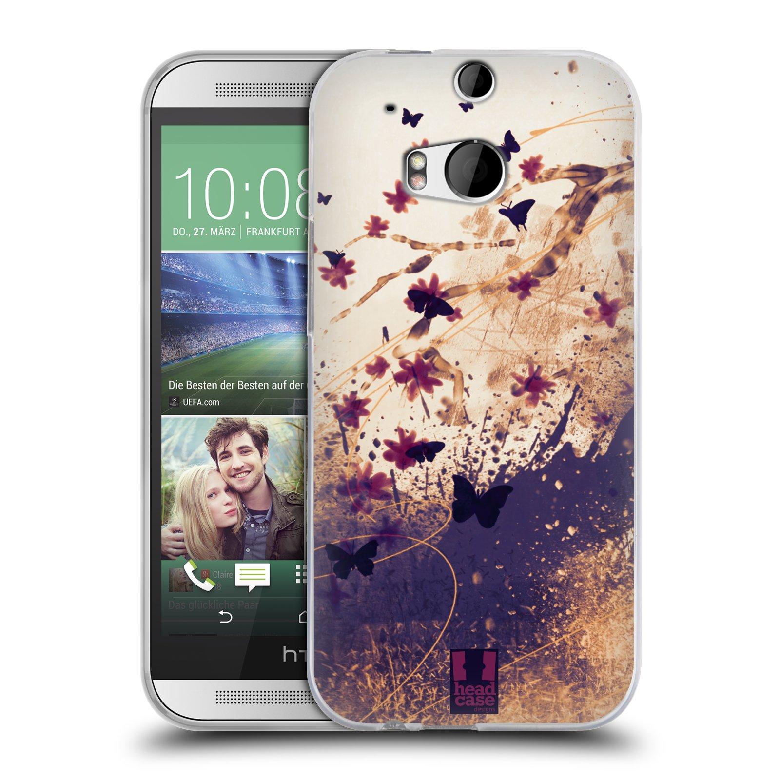 Silikonové pouzdro na mobil HTC ONE M8 HEAD CASE MOTÝLCI (Silikonový kryt či obal na mobilní telefon HTC ONE M8)