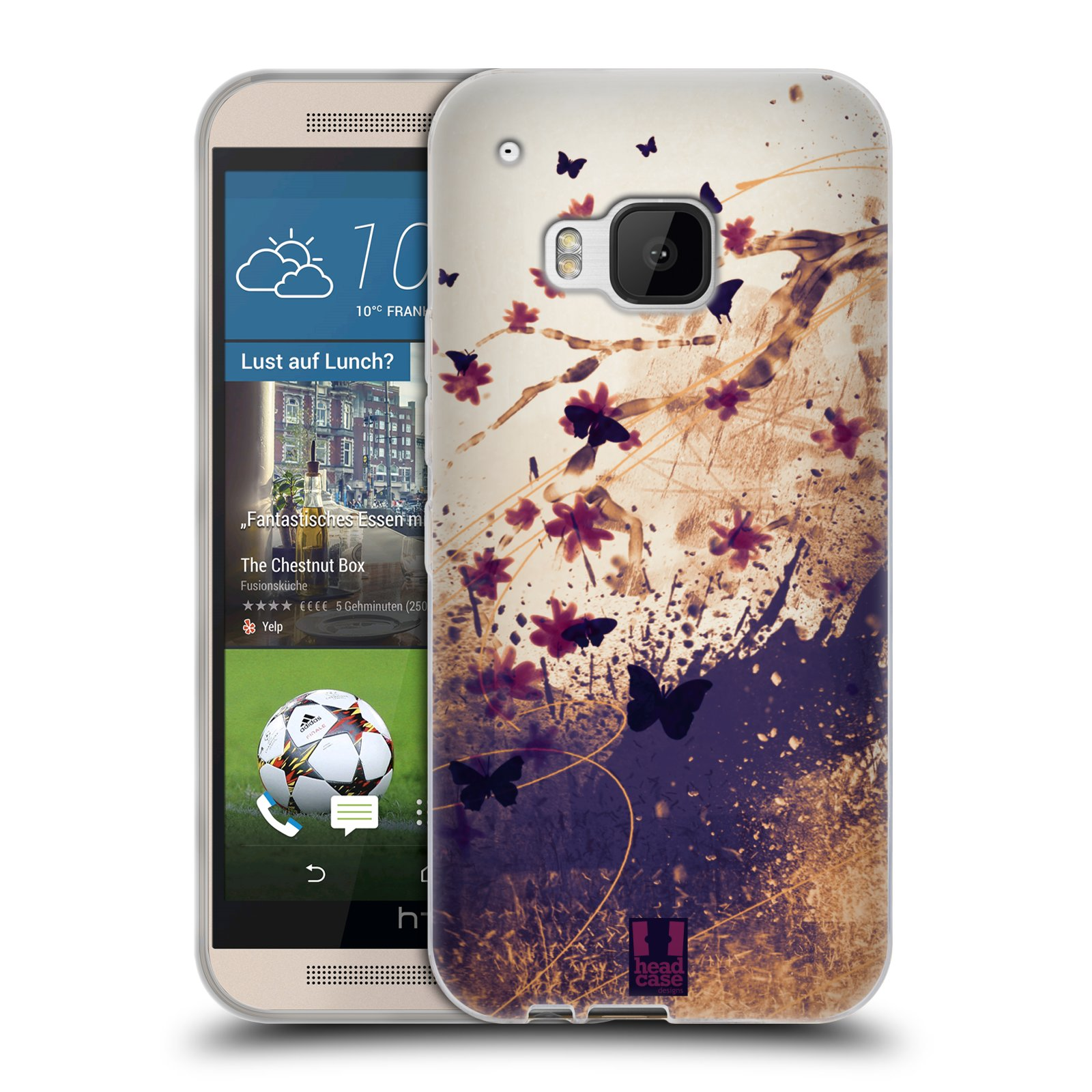 Silikonové pouzdro na mobil HTC ONE M9 HEAD CASE MOTÝLCI (Silikonový kryt či obal na mobilní telefon HTC ONE M9)