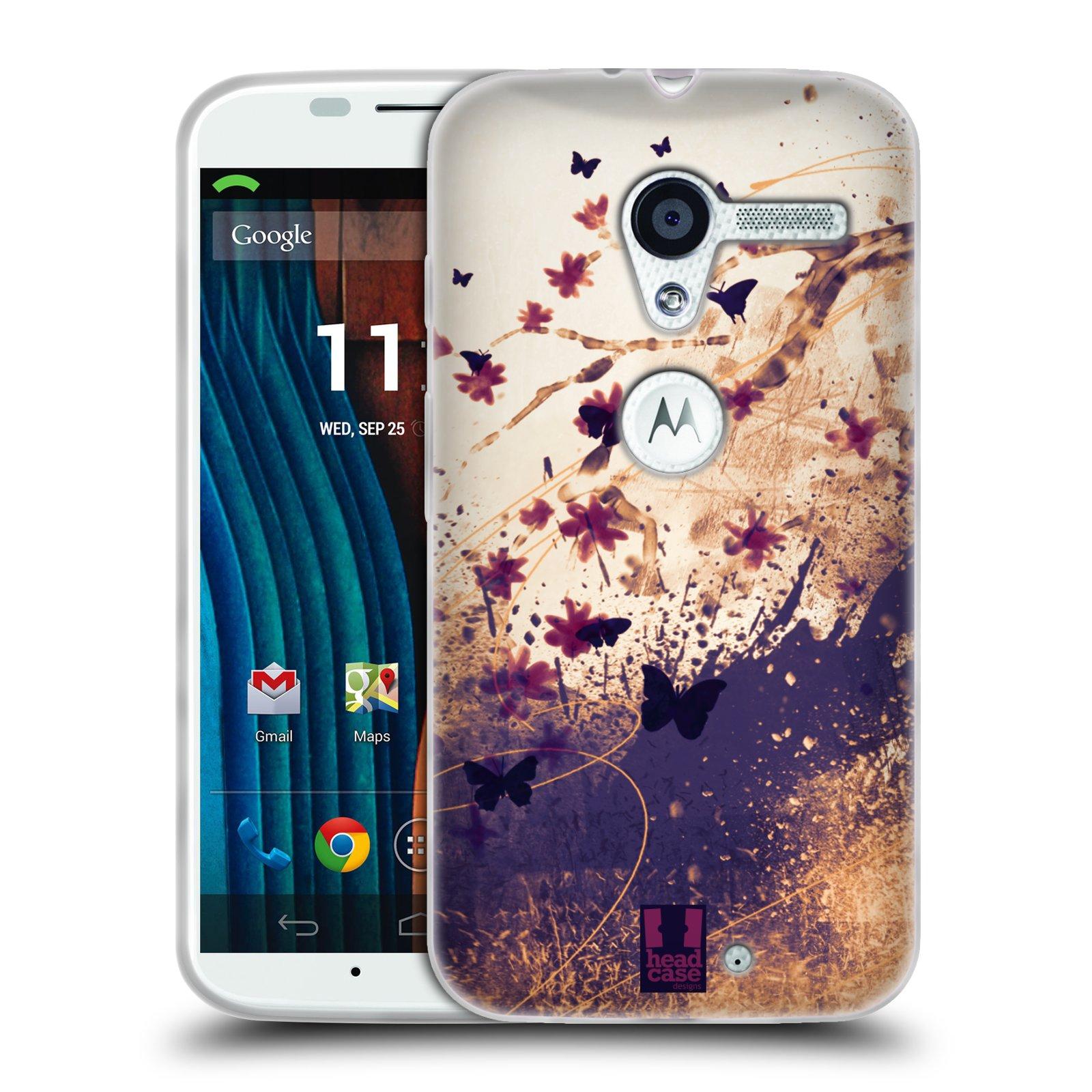 Silikonové pouzdro na mobil Motorola Moto X HEAD CASE MOTÝLCI (Silikonový kryt či obal na mobilní telefon Motorola Moto X)
