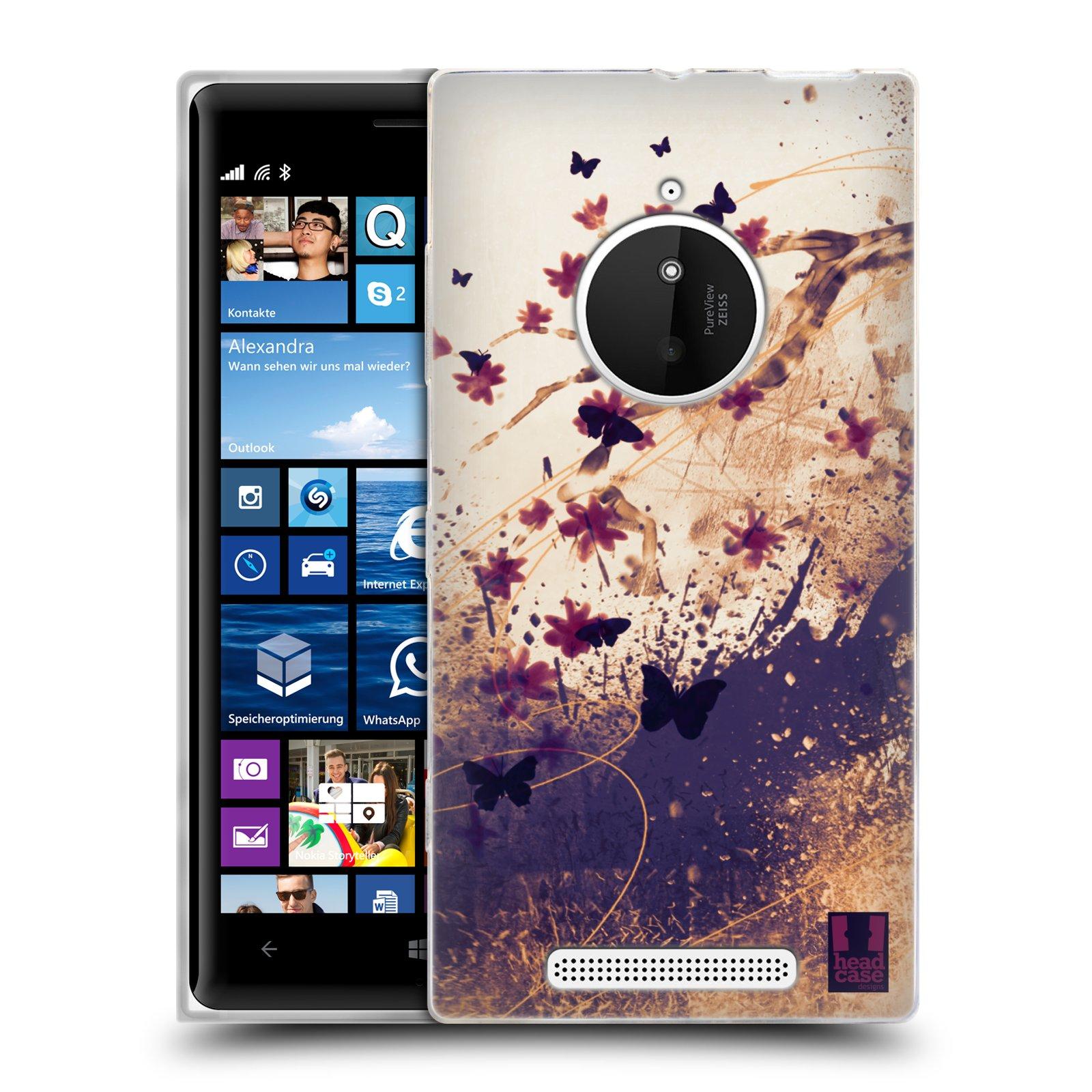 Silikonové pouzdro na mobil Nokia Lumia 830 HEAD CASE MOTÝLCI (Silikonový kryt či obal na mobilní telefon Nokia Lumia 830)