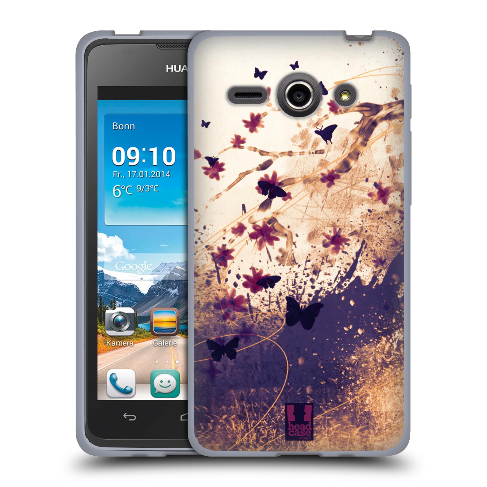 Silikonové pouzdro na mobil Huawei Ascend Y530 HEAD CASE MOTÝLCI (Silikonový kryt či obal na mobilní telefon Huawei Ascend Y530)