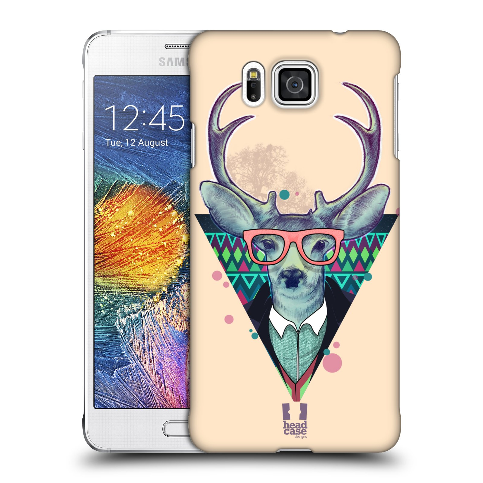 Plastové pouzdro na mobil Samsung Galaxy Alpha HEAD CASE HIPSTR JELEN