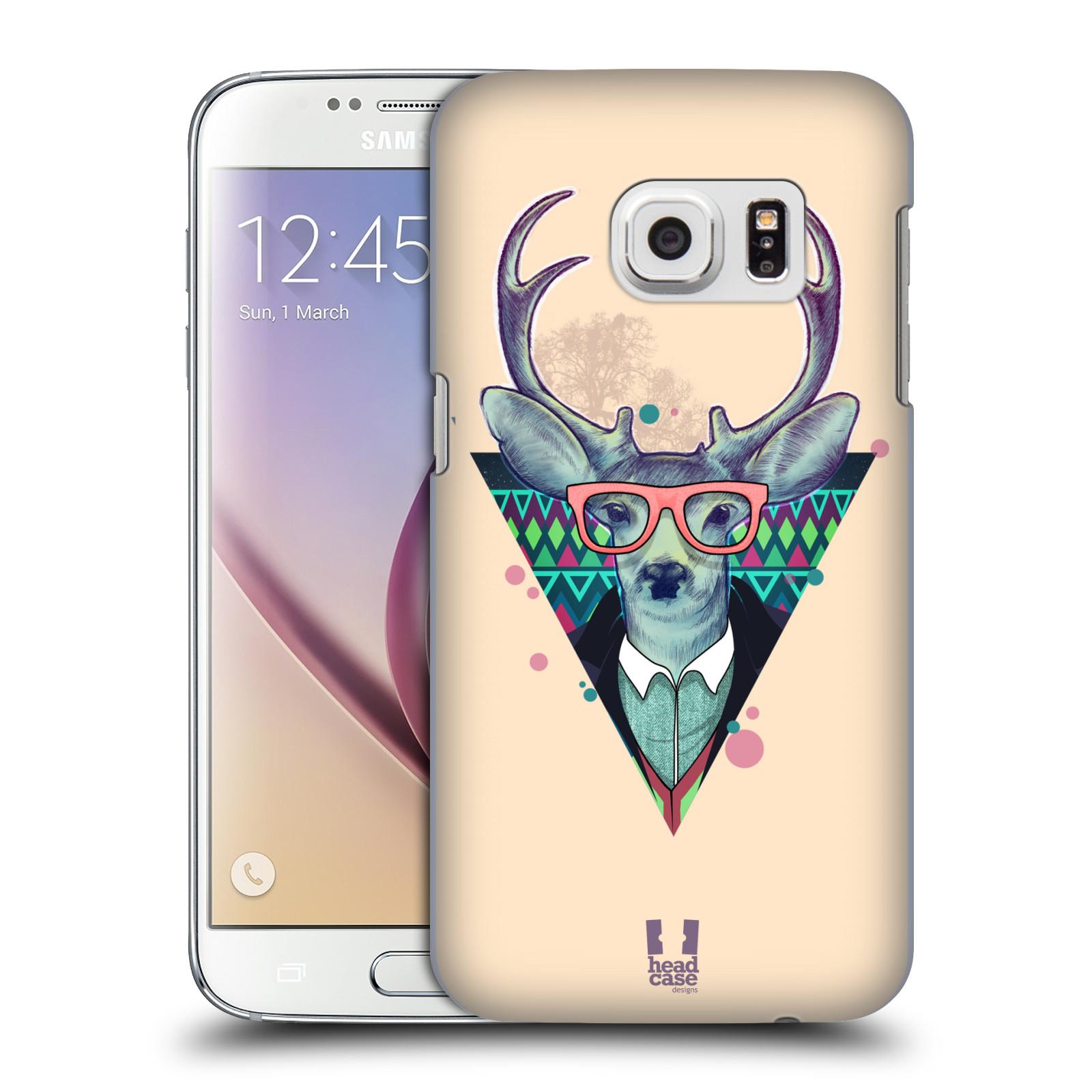 Plastové pouzdro na mobil Samsung Galaxy S7 HEAD CASE HIPSTR JELEN (Kryt či obal na mobilní telefon Samsung Galaxy S7 SM-G930F)