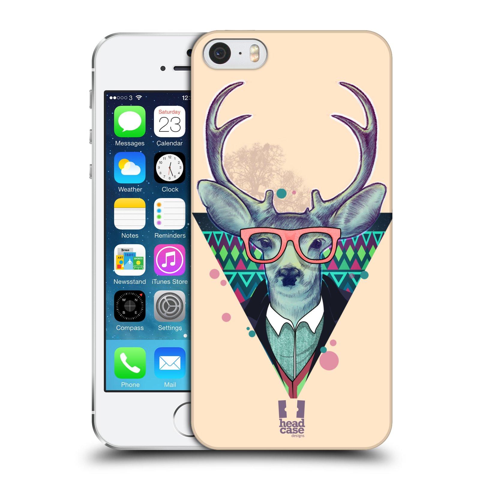 Plastové pouzdro na mobil Apple iPhone SE, 5 a 5S HEAD CASE HIPSTR JELEN