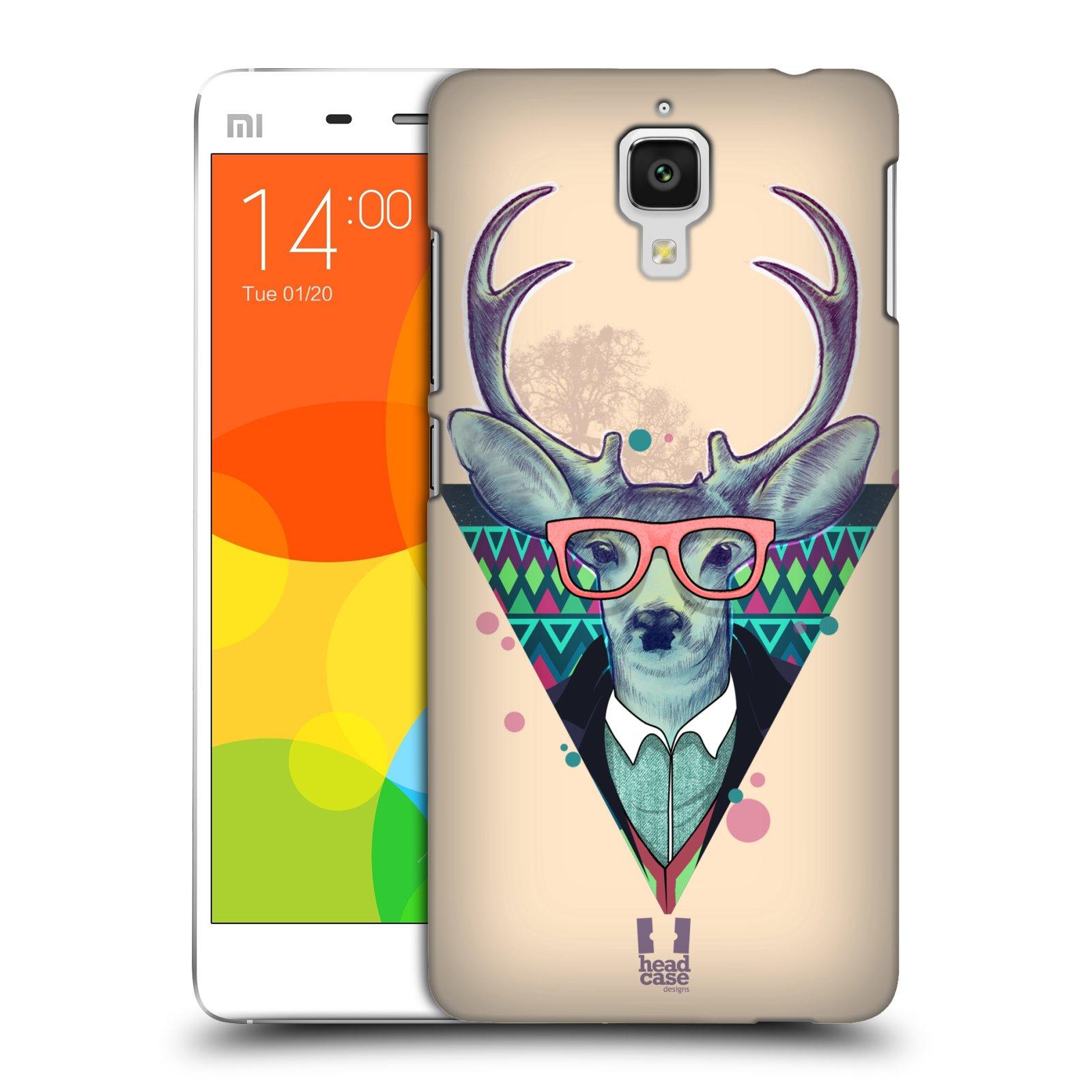 Plastové pouzdro na mobil Xiaomi Mi4 HEAD CASE HIPSTR JELEN (Kryt či obal na mobilní telefon Xiaomi Mi4)