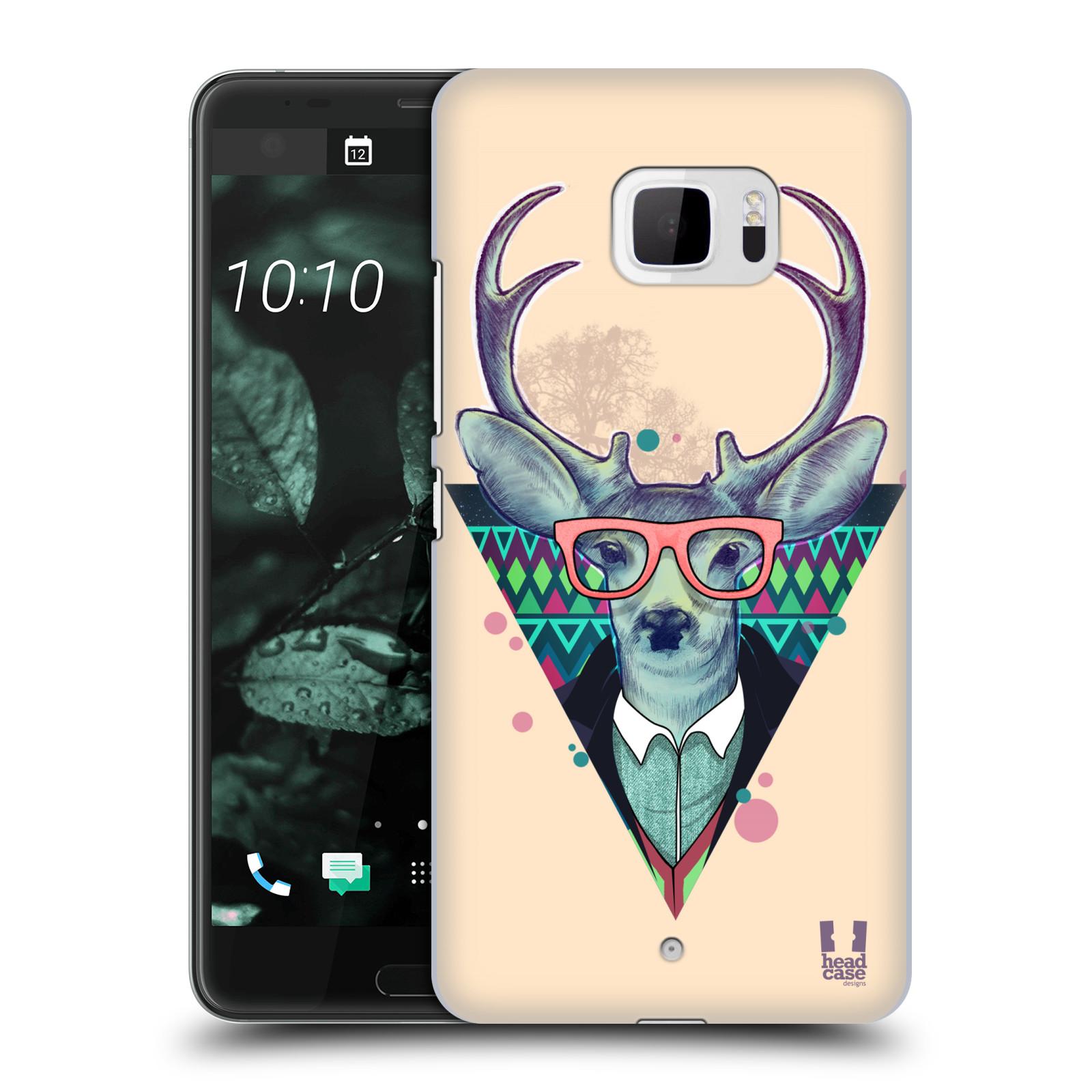 Plastové pouzdro na mobil HTC U Ultra Head Case - HIPSTR JELEN (Plastový kryt či obal na mobilní telefon HTC U Ultra (99HALT015-00))