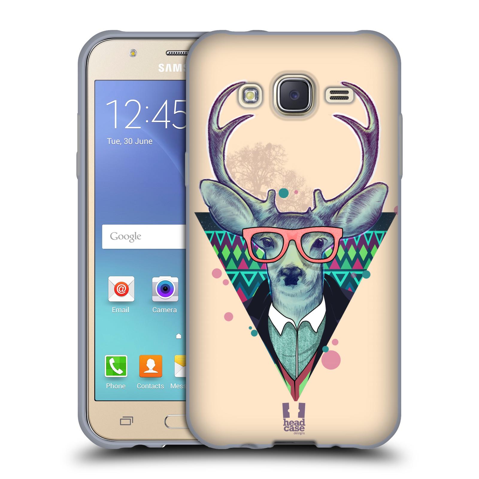 Silikonové pouzdro na mobil Samsung Galaxy J5 HEAD CASE HIPSTR JELEN