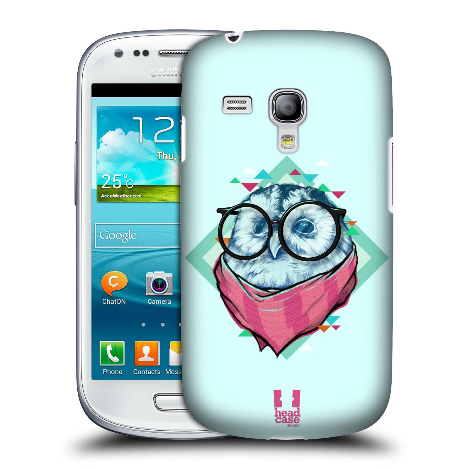 Plastové pouzdro na mobil Samsung Galaxy S3 Mini VE HEAD CASE HIPSTR SOVA (Kryt či obal na mobilní telefon Samsung Galaxy S3 Mini VE GT-i8200)