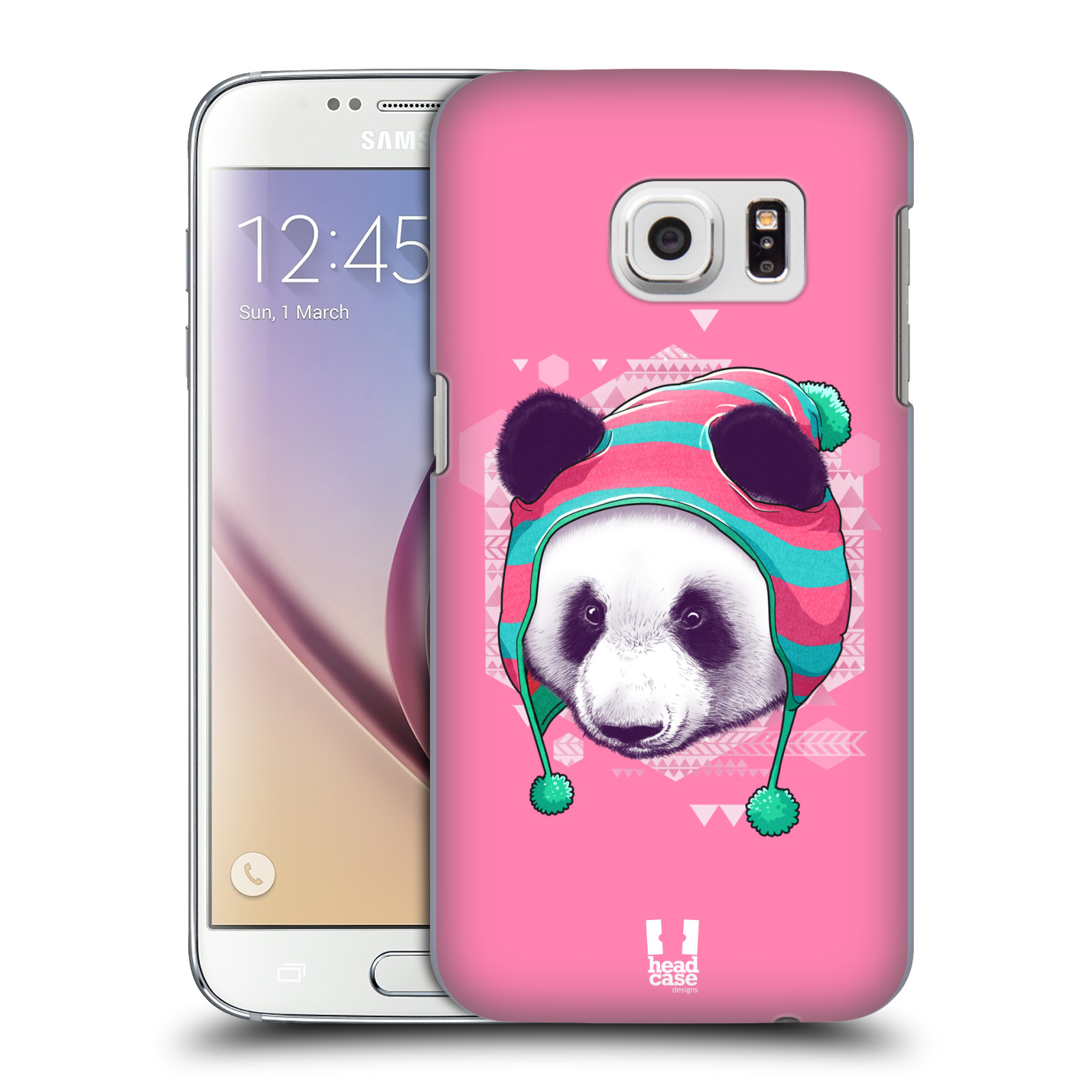 Plastové pouzdro na mobil Samsung Galaxy S7 HEAD CASE HIPSTR PANDA (Kryt či obal na mobilní telefon Samsung Galaxy S7 SM-G930F)